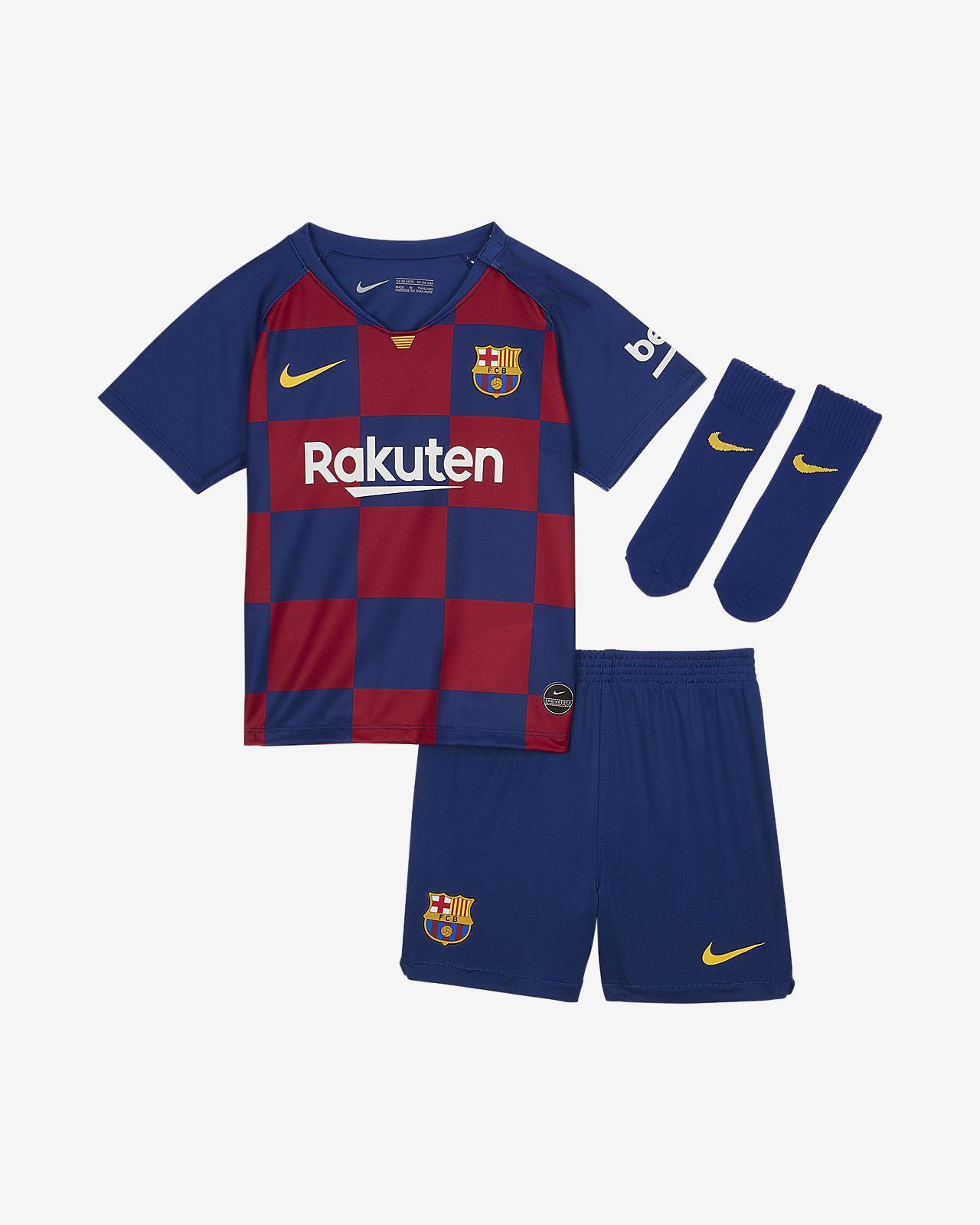 FC Barcelona 2019/20 Home fotballsett til sped-/småbarn