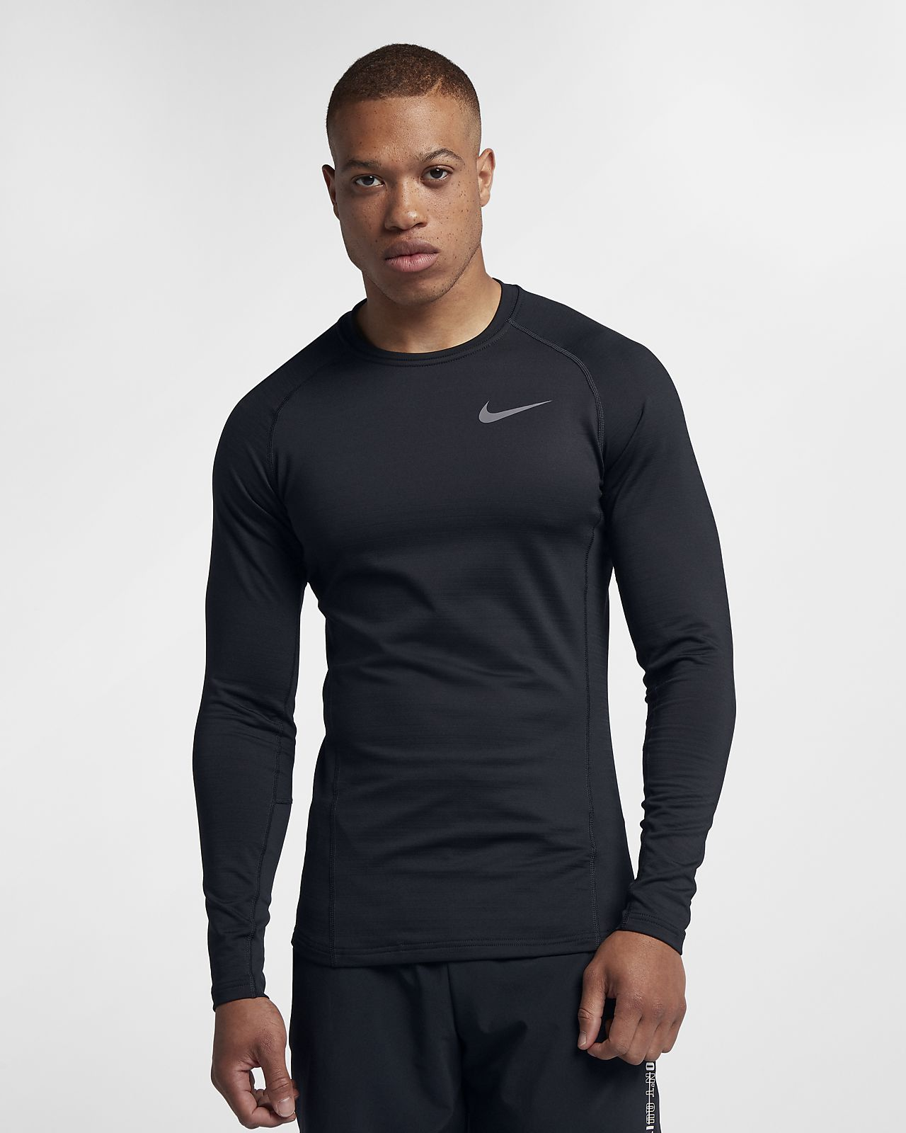 Nike Herren Kompressionsshirt Pro Short Sleeve Tight in weiß