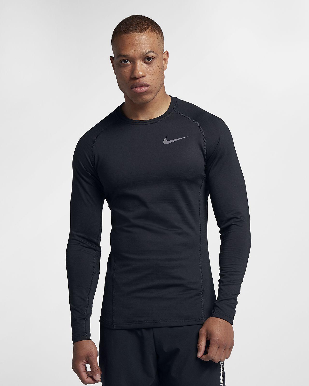 Top de entrenamiento de manga larga para hombre Nike Pro Warm