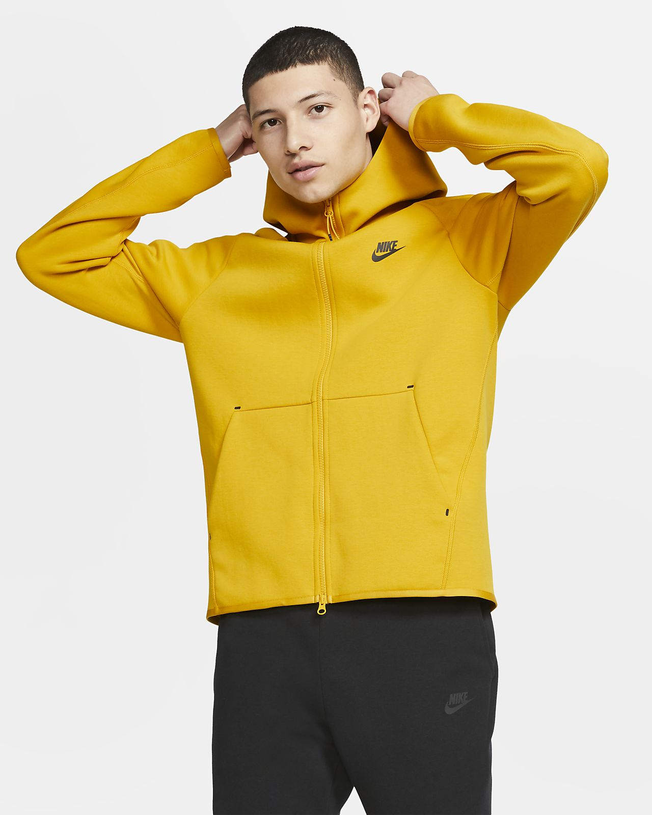 Ανδρική μπλούζα με κουκούλα και φερμουάρ Nike Sportswear Tech Fleece