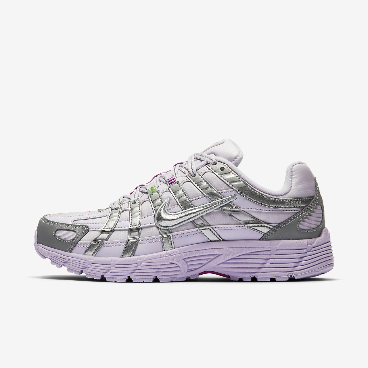 Женские кроссовки с клетчатым принтом Nike P-6000