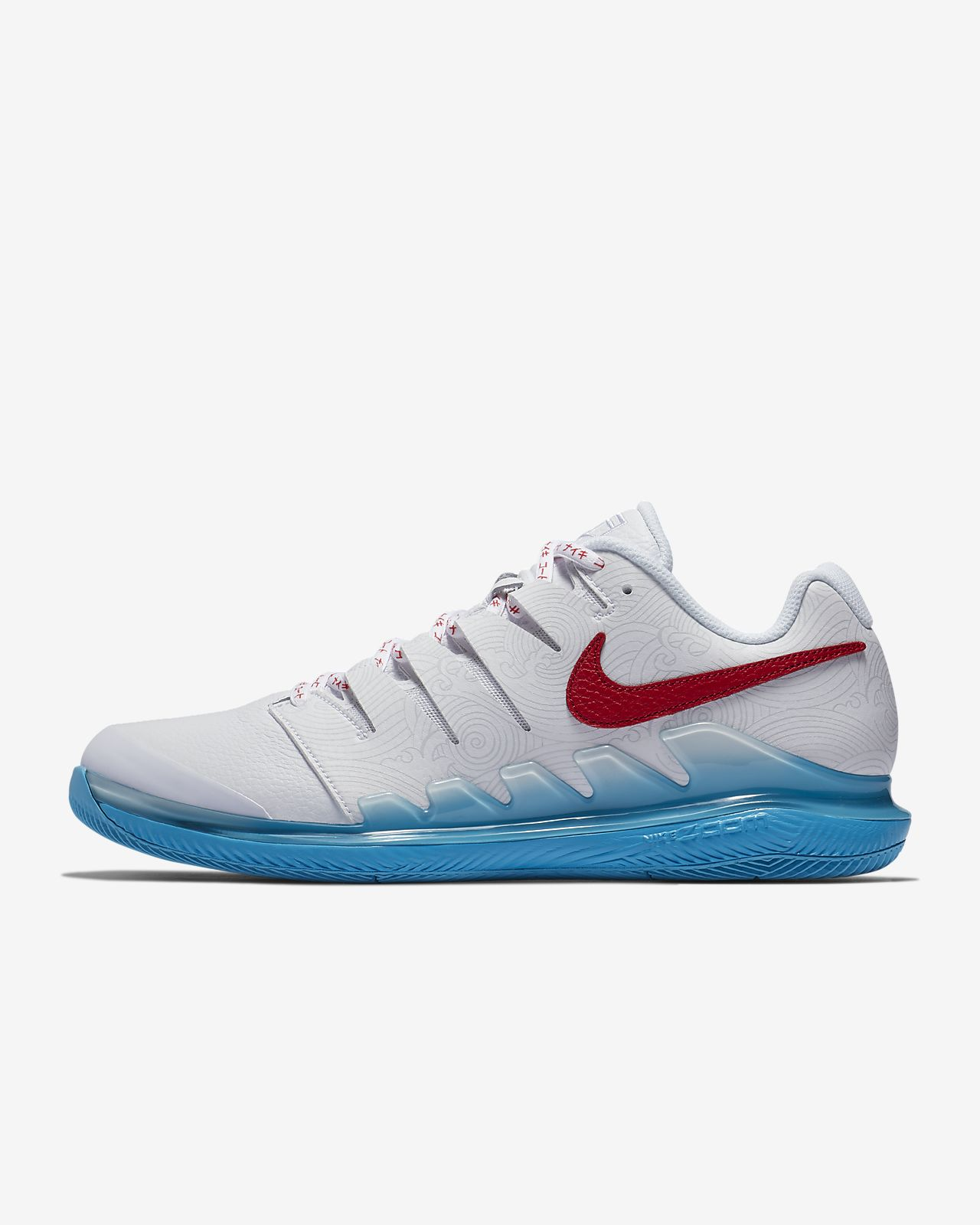 NikeCourt Air Zoom Vapor X Leather 男款硬地球場網球鞋