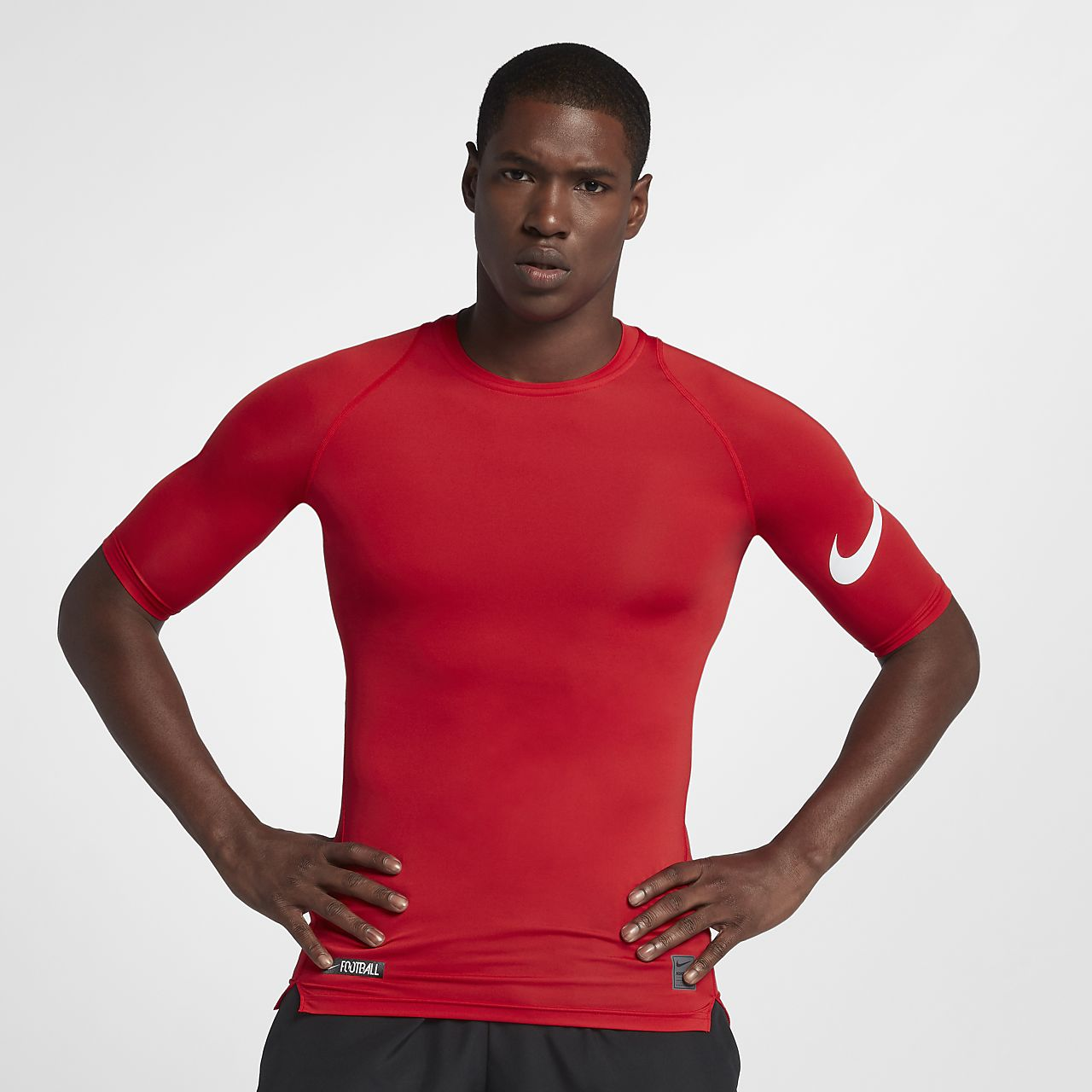 Nike Pro Men's 1/2 Sleeve Football Top
