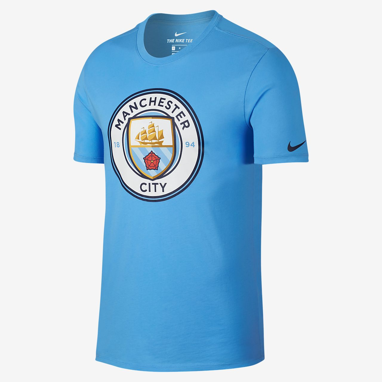 Camiseta para hombre Manchester City FC Crest. Nike.com MX f27bb622d1f