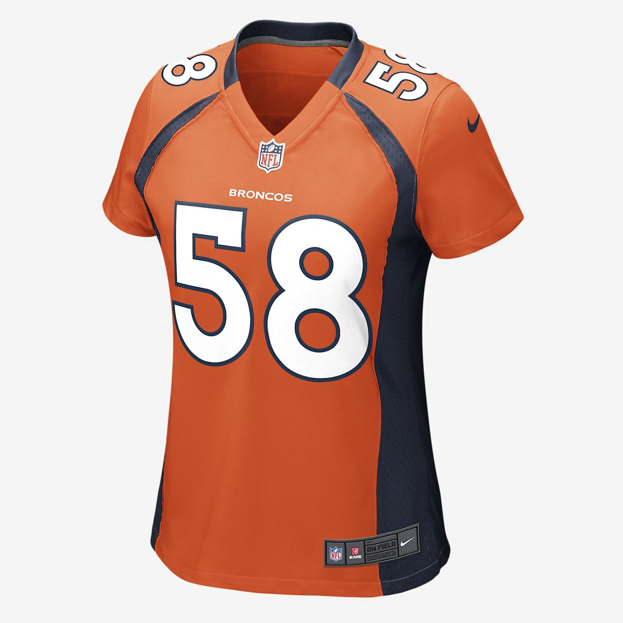 NFL Denver Broncos (Von Miller) Women's Game Football Jersey
