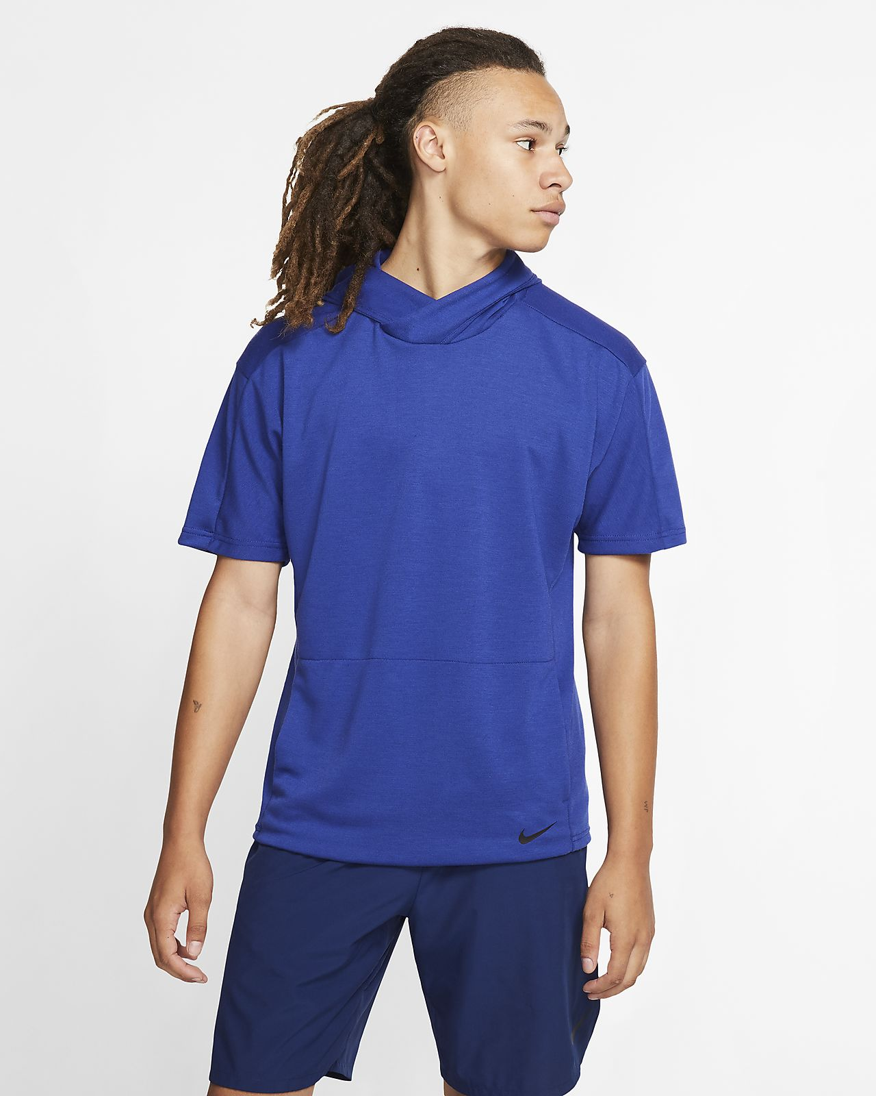 Nike Yoga Dri-FIT Men's Short-Sleeve Pullover Hoodie