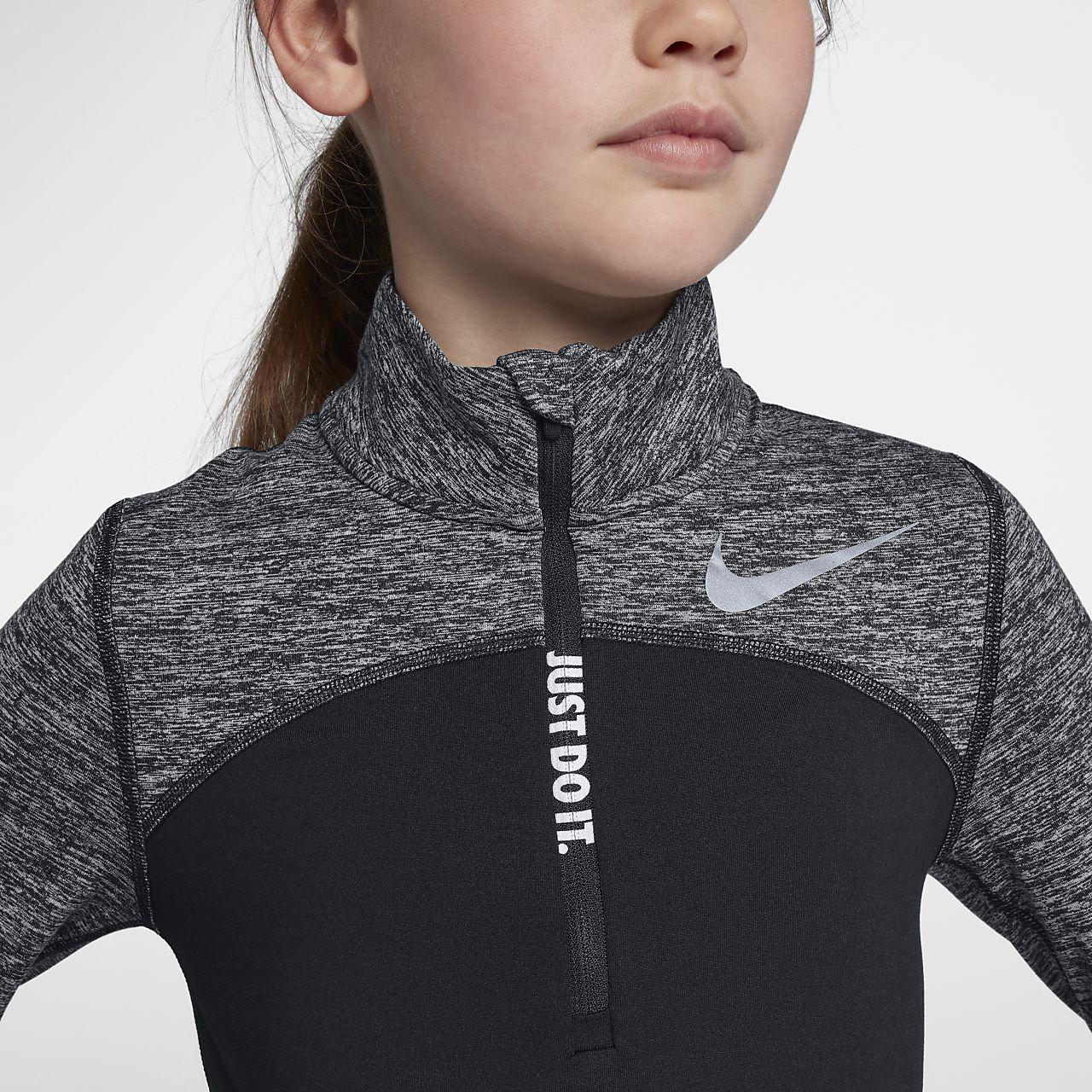 384f66149142 Nike Dri-FIT Element Big Kids  (Girls ) Half-Zip Running Top. Nike.com