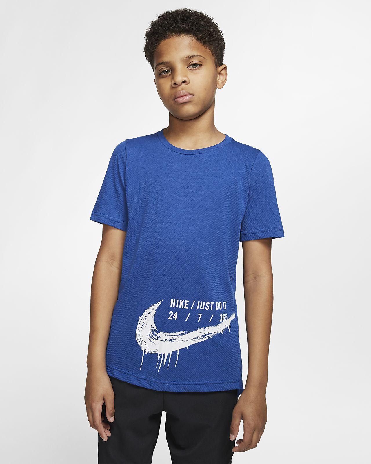 Haut de training à manches courtes Nike Breathe pour Enfant plus âgé