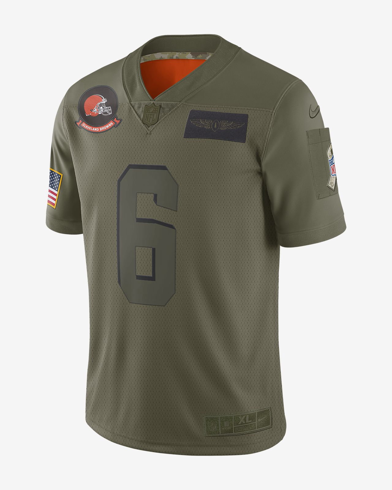 NFL Cleveland Browns Limited Salute To Service (Baker Mayfield) Men's Football Jersey
