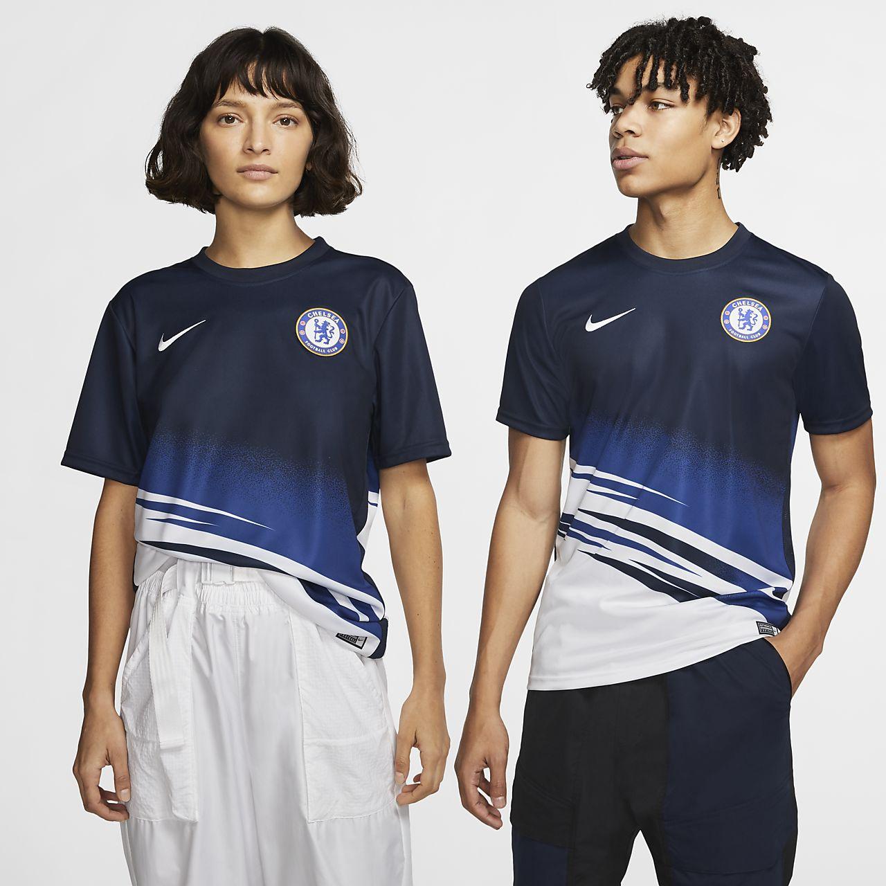 Top de fútbol de manga corta para hombre Chelsea FC