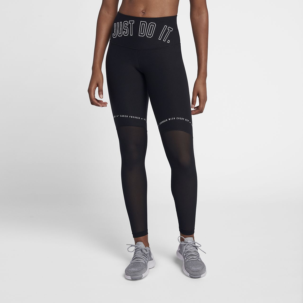 Dámské tréninkové legíny Nike Power Team se středně vysokým pasem ... e7ac674d23