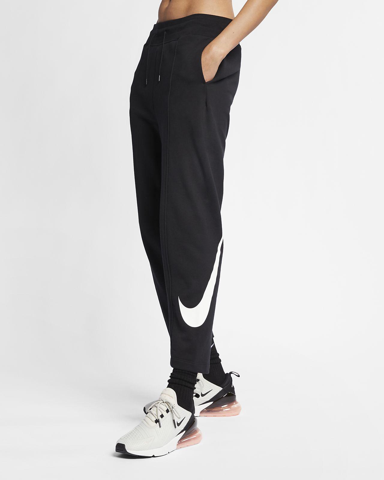 กางเกงผ้าเฟรนช์เทรีผู้หญิง Nike Sportswear Swoosh