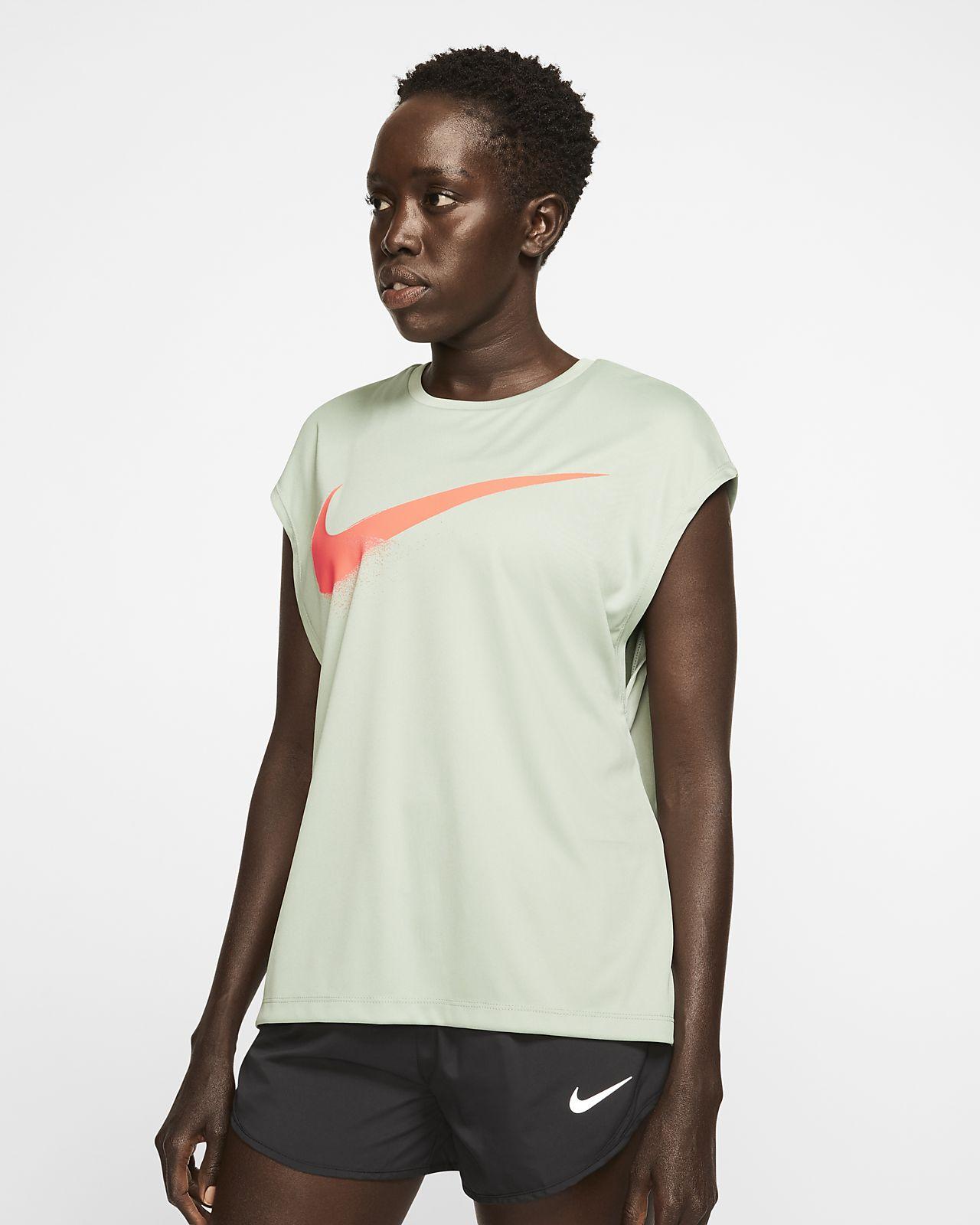 Nike Dri-FIT Damen-Laufoberteil mit Grafik
