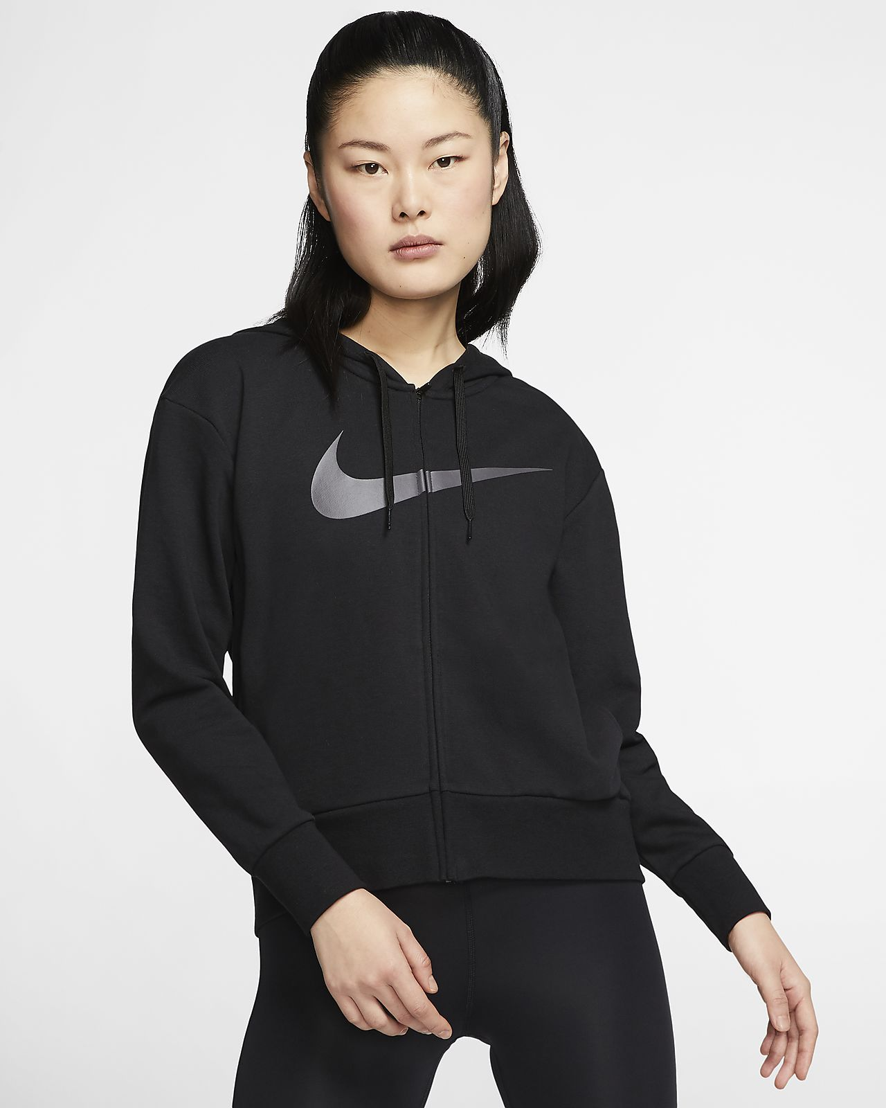 Nike Dri FIT Get Fit Women's Full Zip Training Hoodie