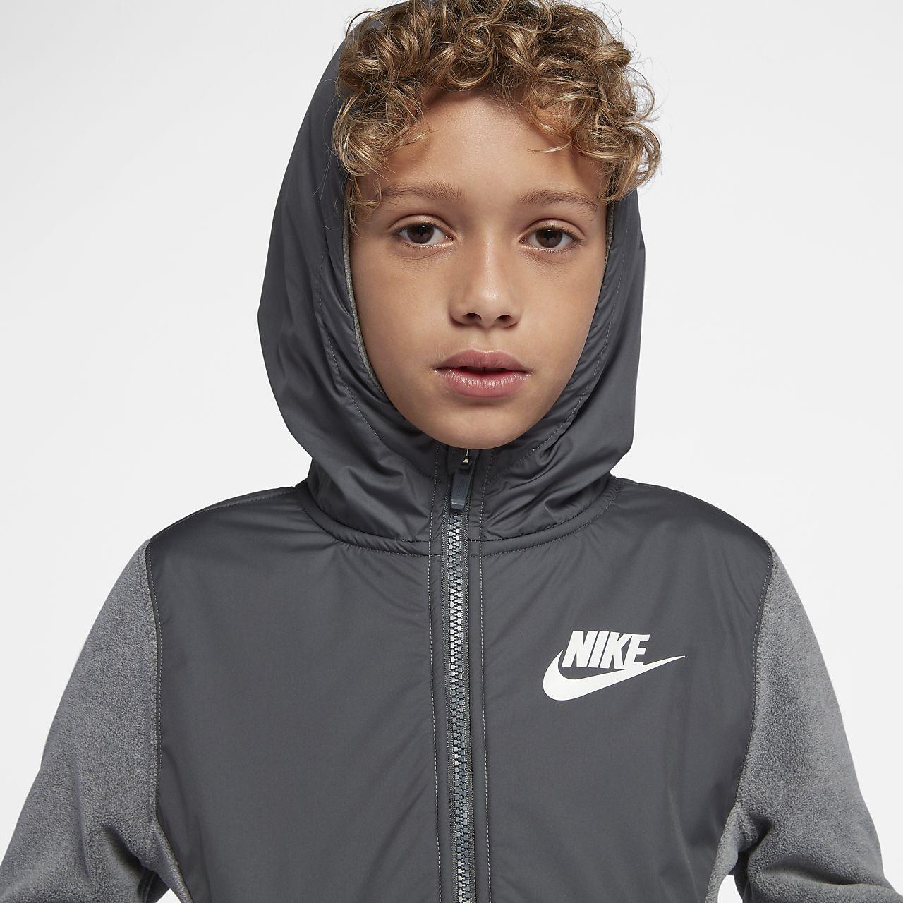 Nike Sportswear hettejakke til store barn (gutt)