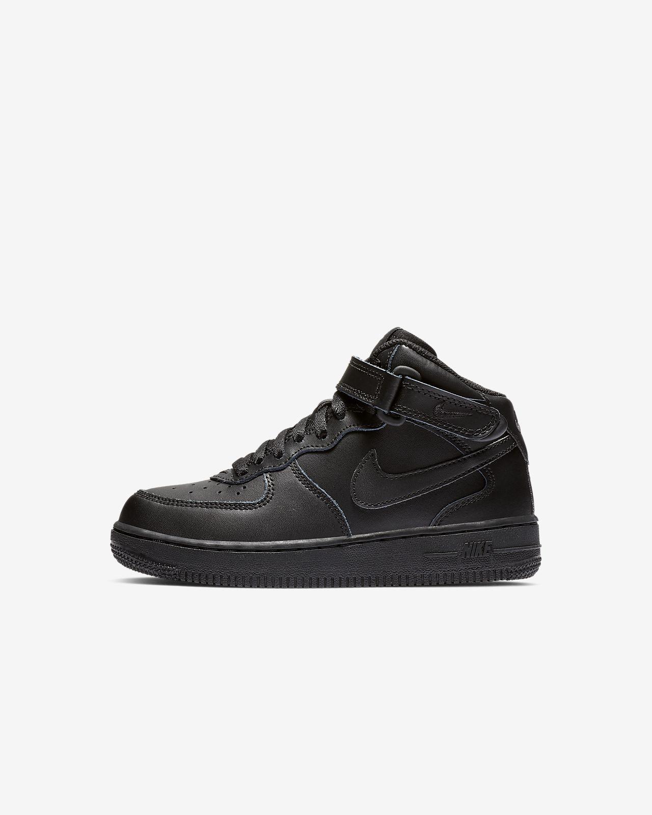 Nike Nike Air Force 1 Mid Youth GS Schuhe schwarz | Damen Hohe Sneaker · Eibe Kaufen