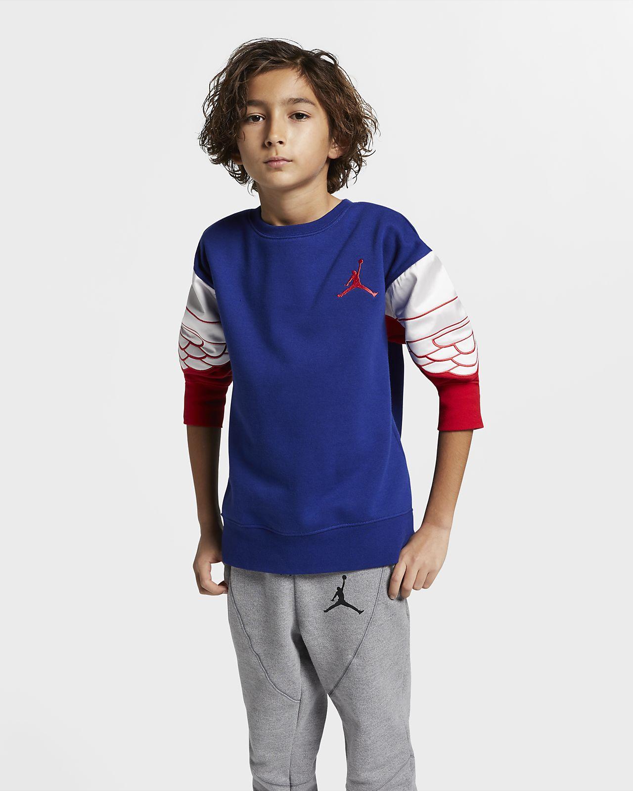 Jordan Wings Classic 大童(男孩)套头圆领上衣