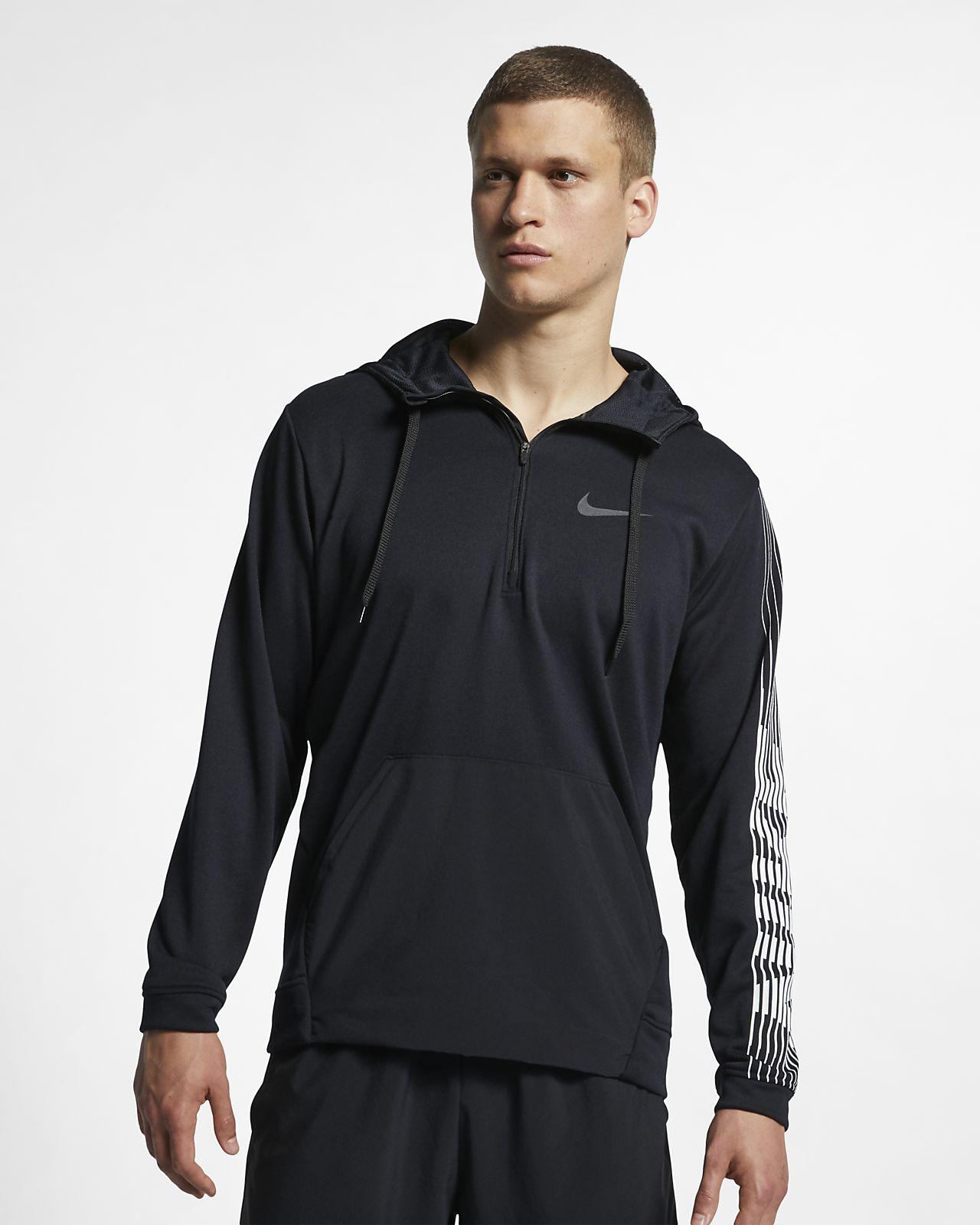 Ανδρική φλις μπλούζα προπόνησης με κουκούλα Nike Dri-FIT