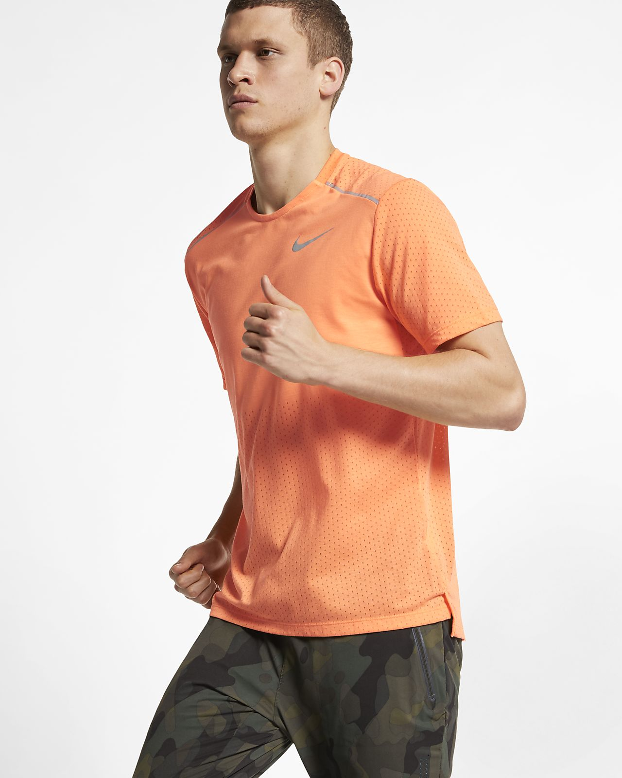 Haut de running à manches courtes Nike Rise 365 pour Homme