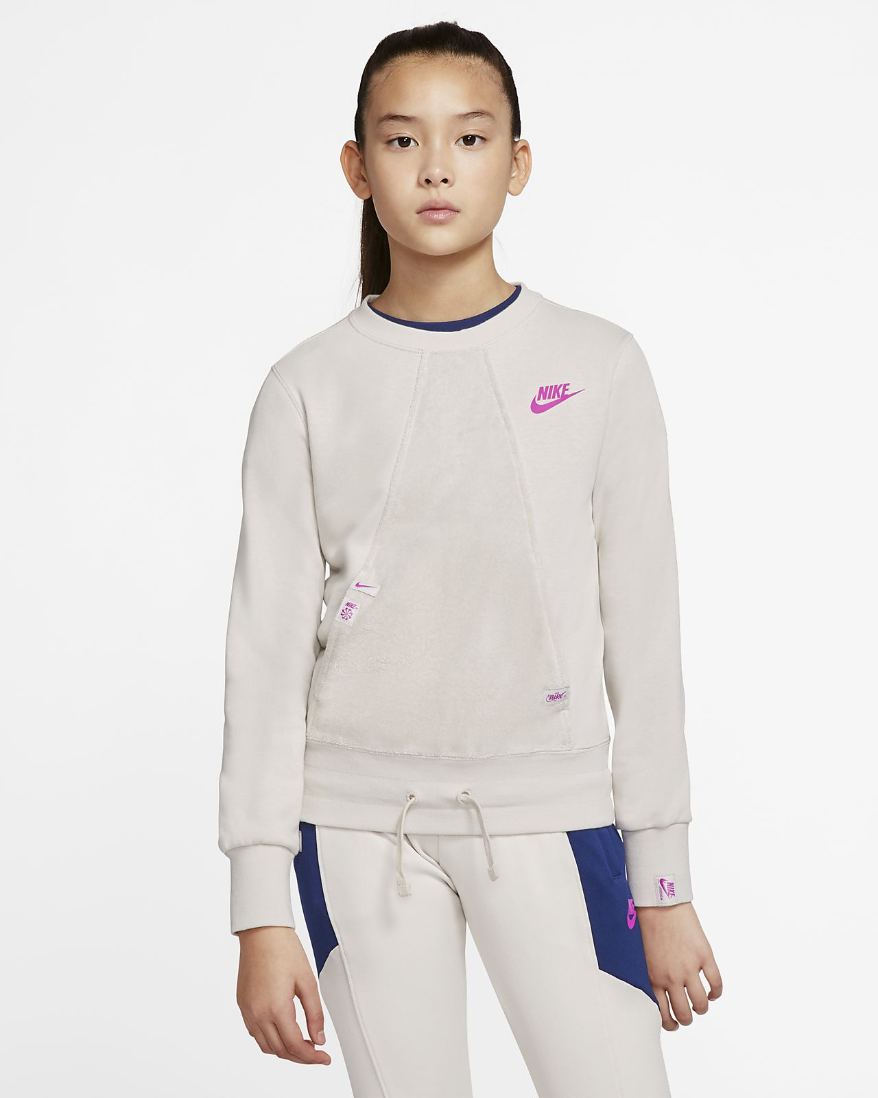 Nike Sportswear Heritage Big Kids' (Girls') Long-Sleeve Top