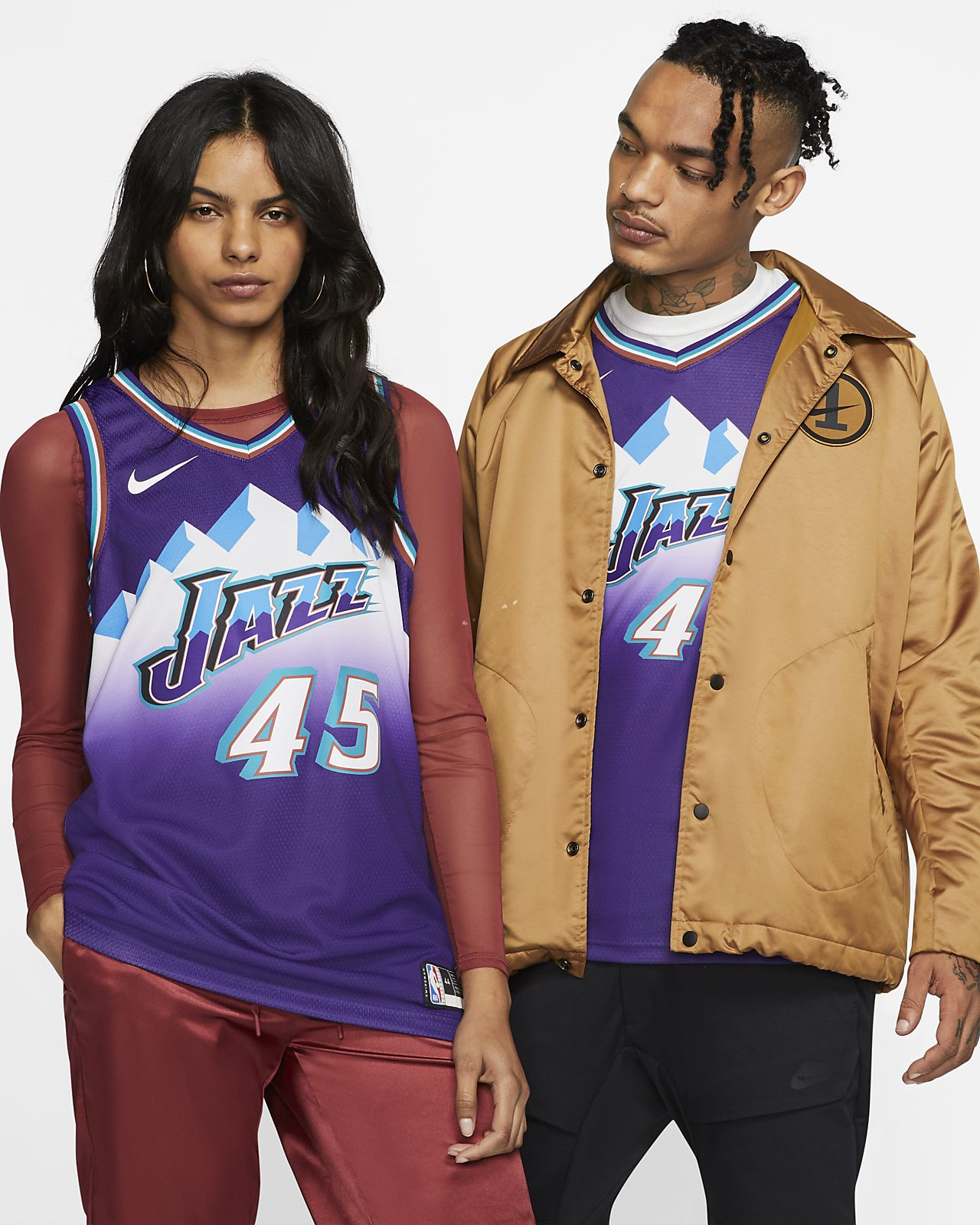Donovan Mitchell Jazz Classic Edition Swingman Nike NBA-jersey voor heren