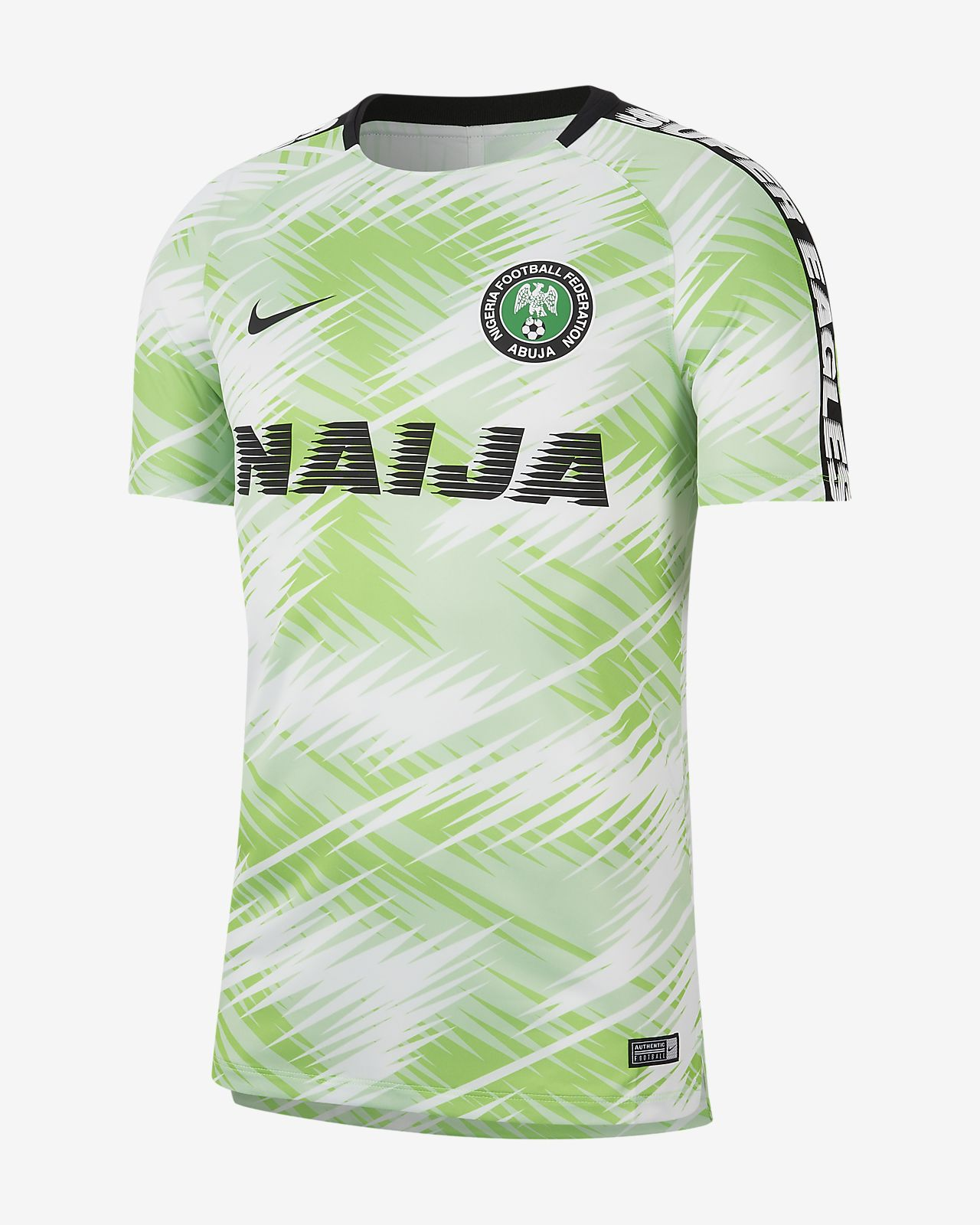 wholesale dealer db176 2bbb6 Nigeria Squad Men's Football Top