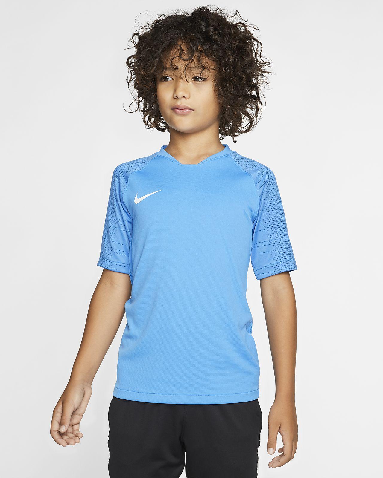 Kortærmet Nike Breathe Strike-fodboldtrøje til store børn