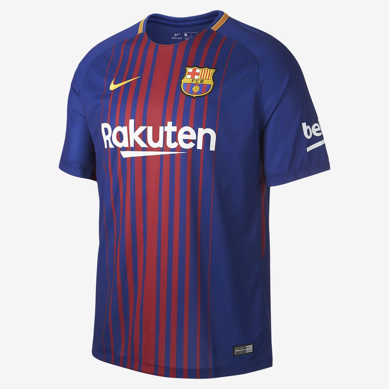 aa00d234e2e27 ... Camiseta de fútbol para hombre de local Stadium del FC Barcelona 2017 18