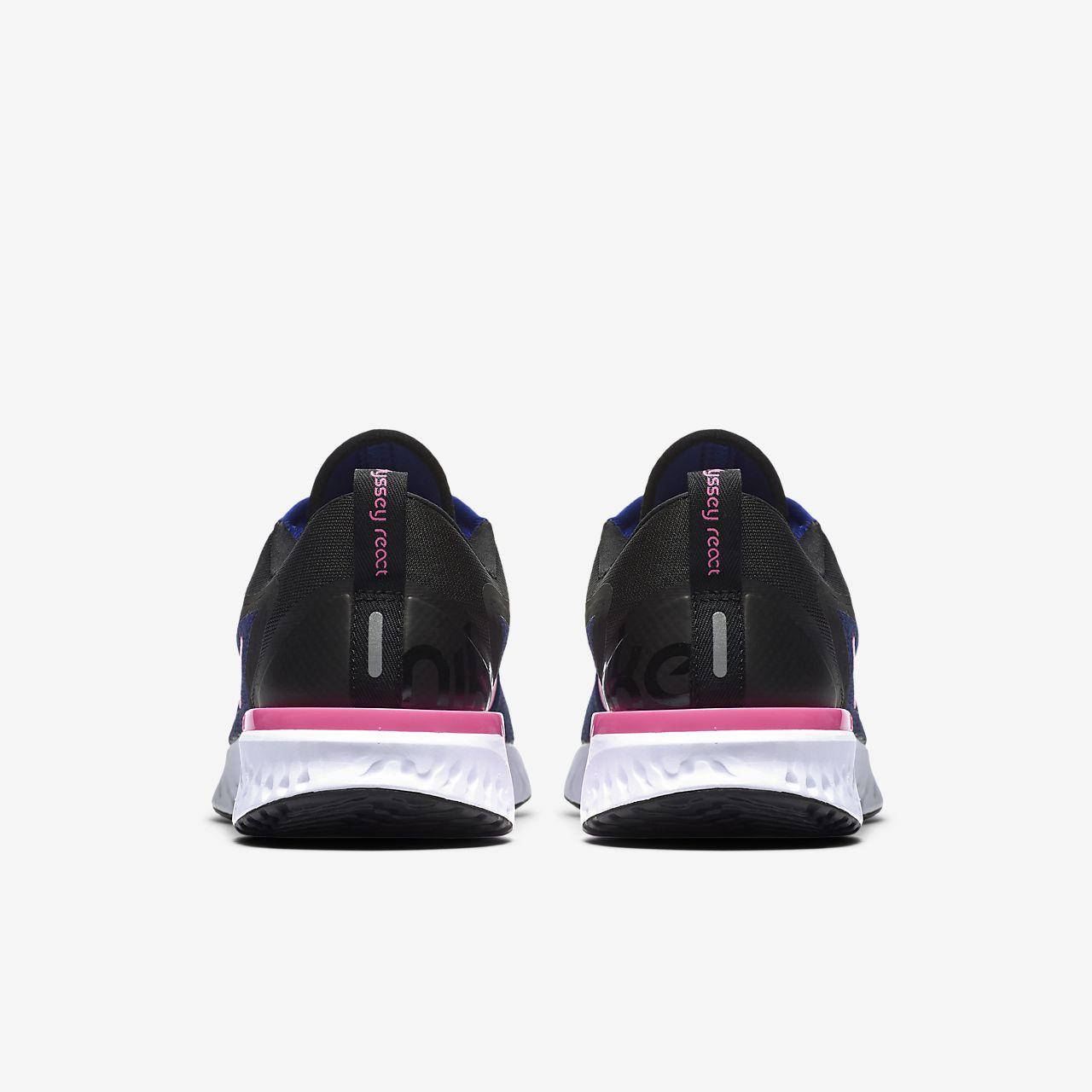 6b9f081c8018 scarpa da running nike odyssey react deep royal blue nero bianco pink blast  ao9820-403