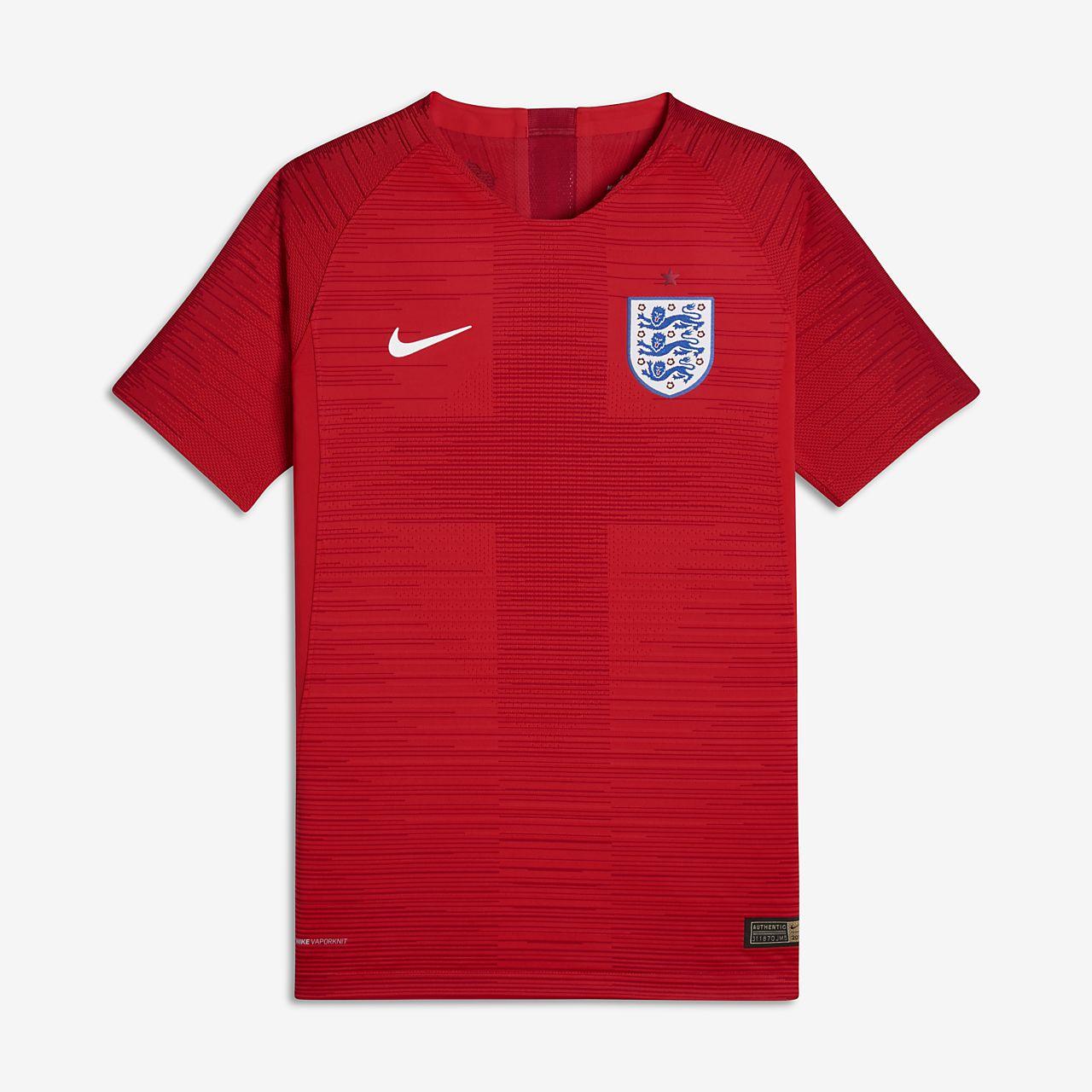 2018 England Vapor Match Away Older Kids  (Boys ) Football Shirt ... b20978109977