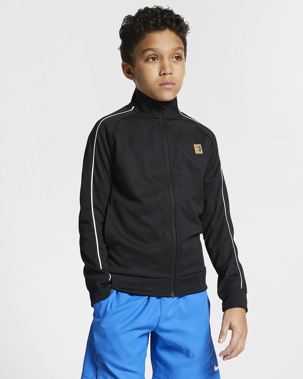 Chlapecká tenisová rozcvičovací bunda NikeCourt