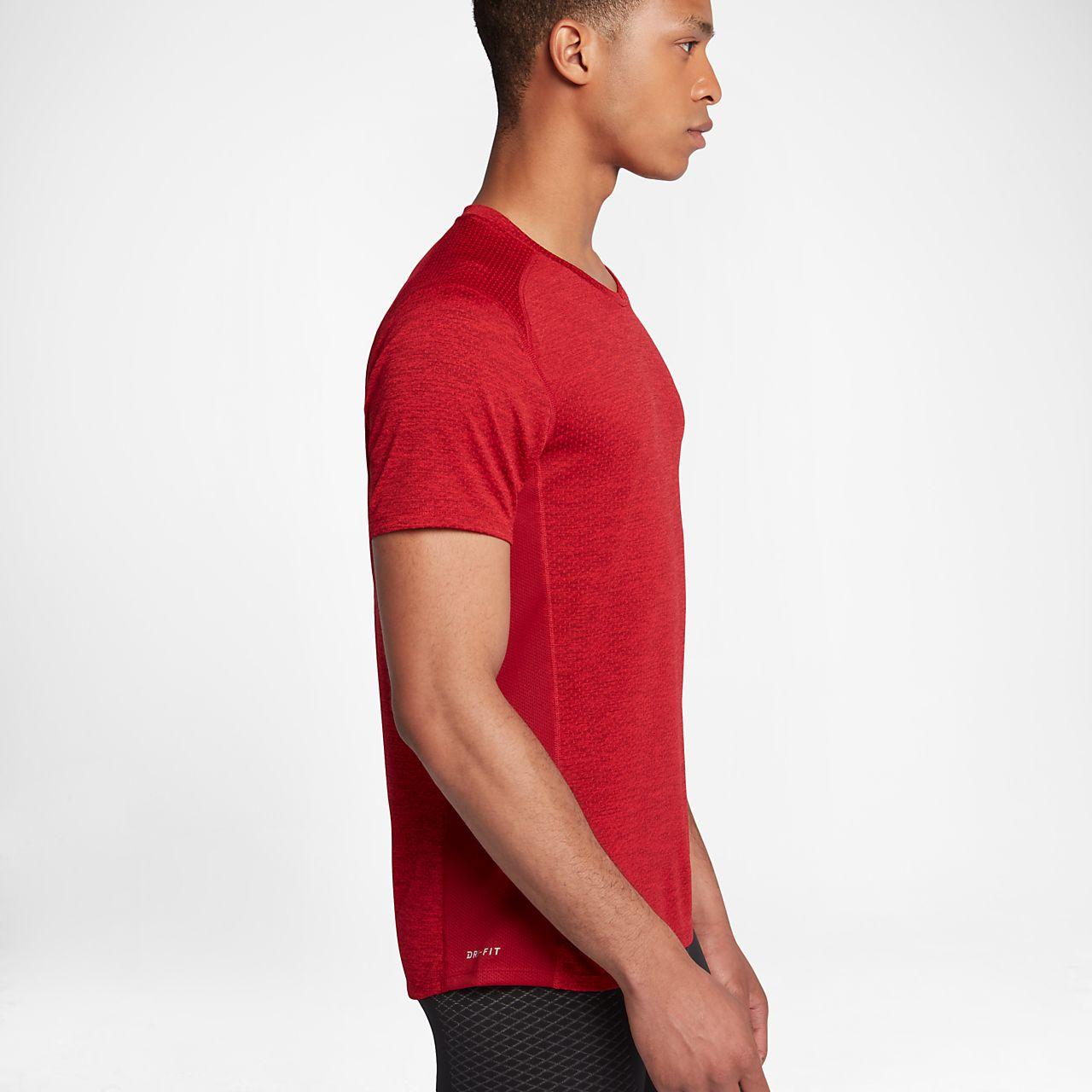 Nike Camiseta rosa de manga corta Dry Miler de Nike Running Plus qVqFLSdC