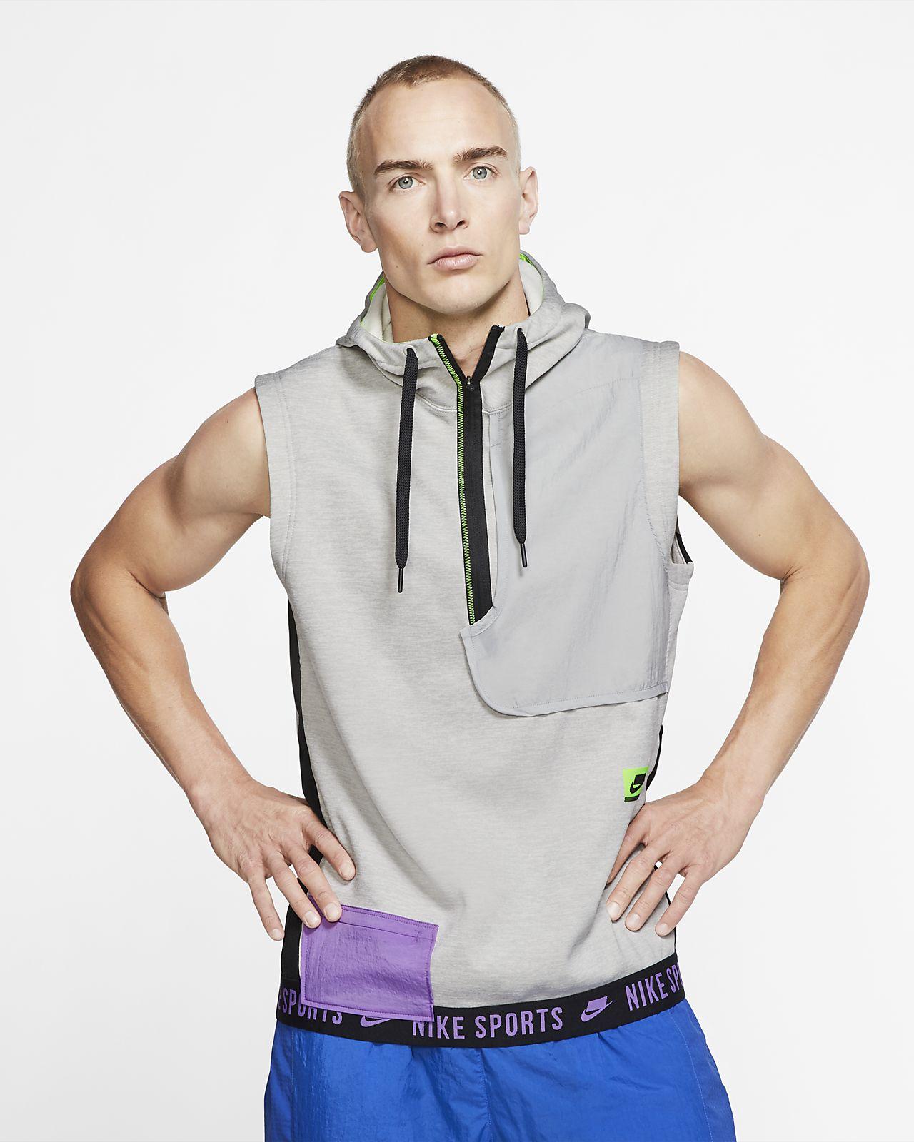 Pánské tréninkové tričko Nike Therma Sport Clash bez rukávů s kapucí