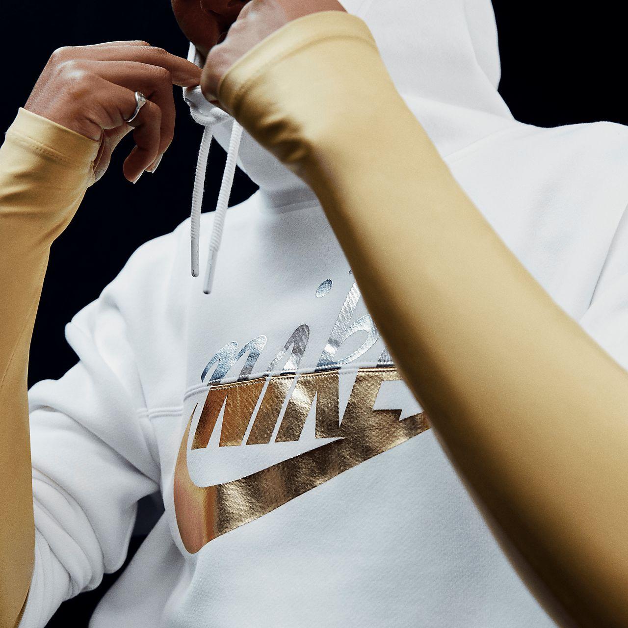 9bd9f5c8d7d8 Nike Sportswear Rally Women s Metallic Pullover Hoodie. Nike.com