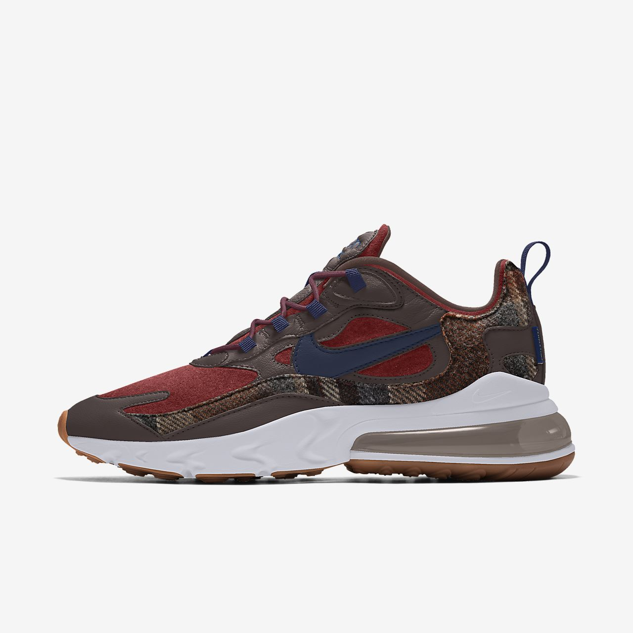 Specialdesignad sko Nike Air Max 270 React Pendleton By You för kvinnor