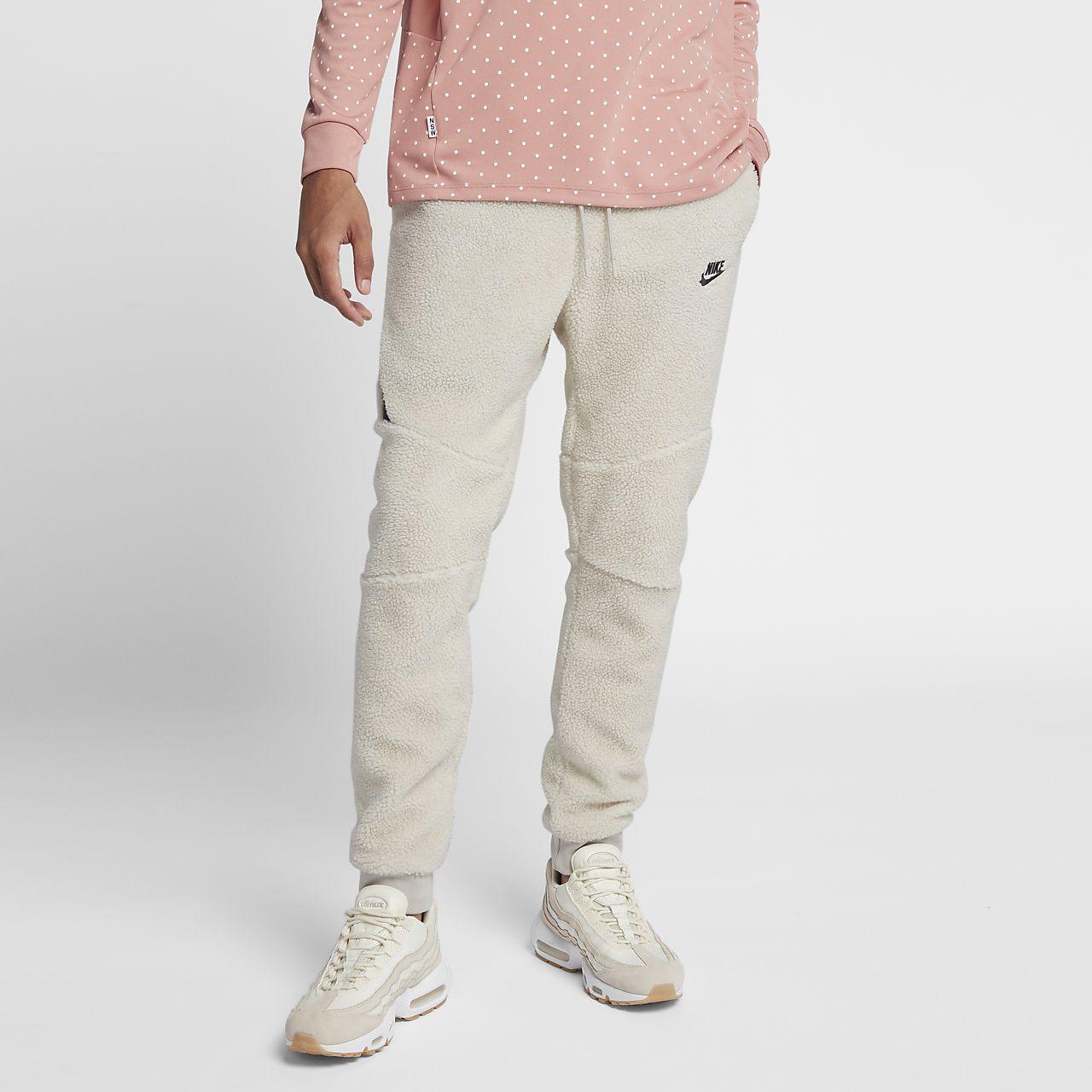 Joggingbyxor i sherpamaterial Nike Sportswear Tech Fleece Icon för män