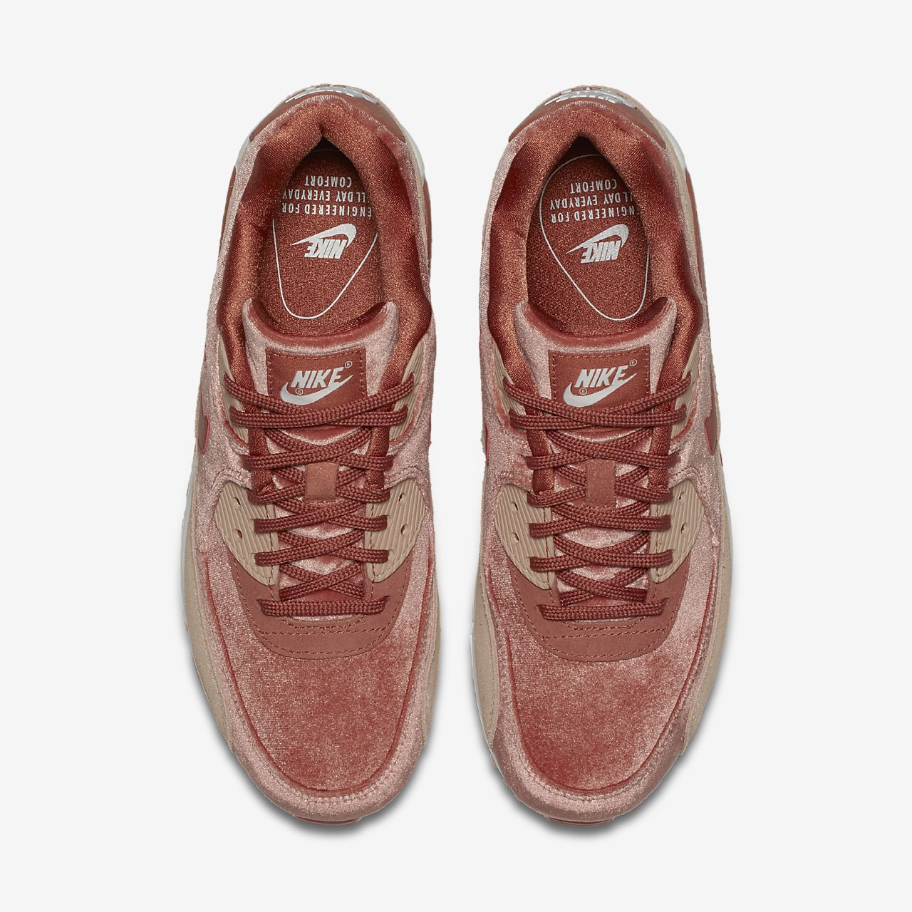 nike air max 90 velvet trainers in rose