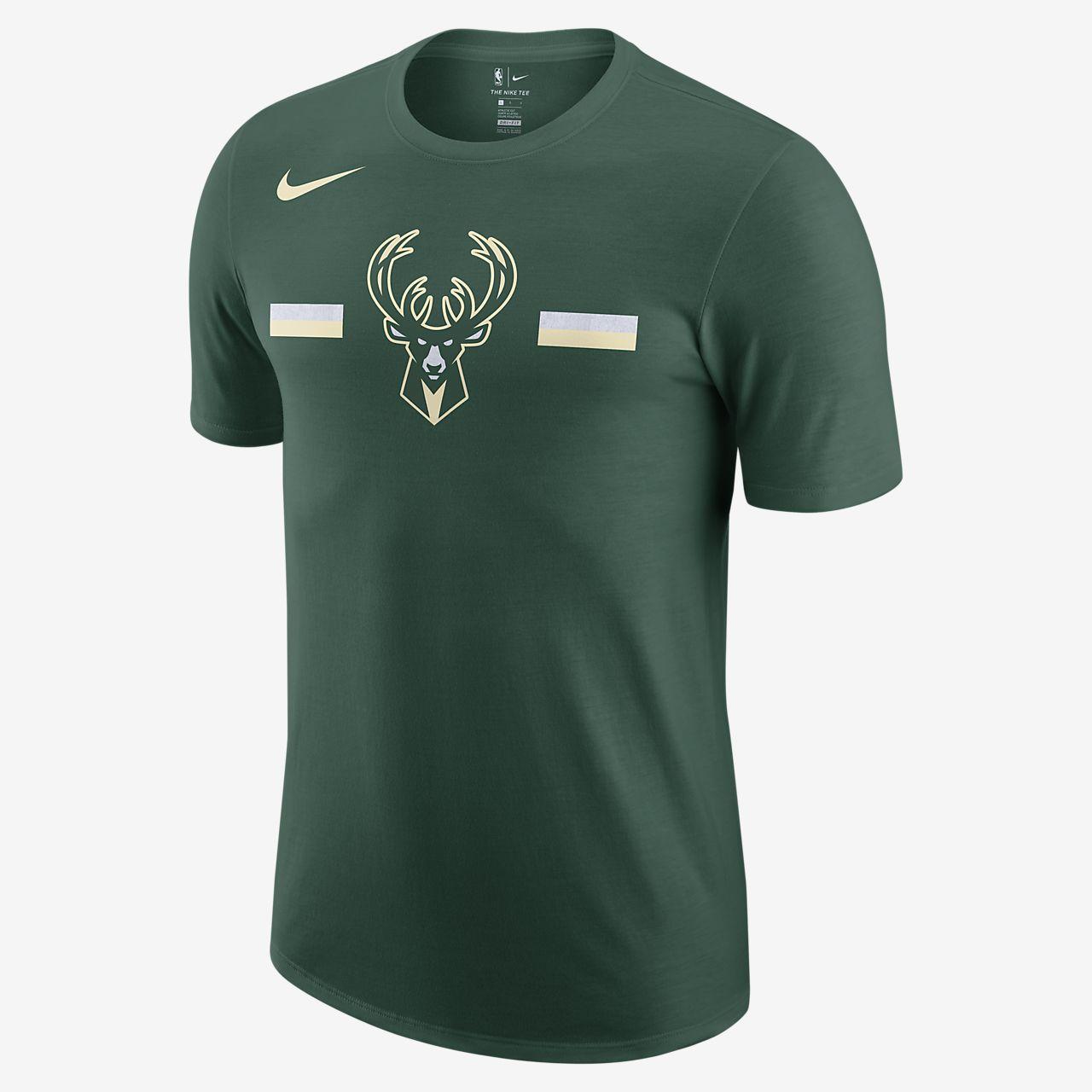 sports shoes 203b1 d07fb ... Milwaukee Bucks Nike Dri-FIT Logo Big Kids  NBA T-Shirt