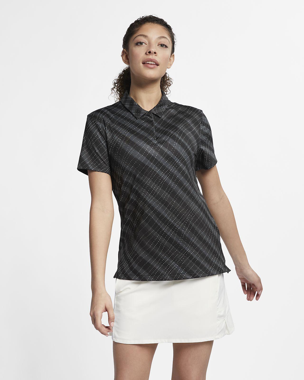 Nike Dri-FIT UV mintás női golfpóló