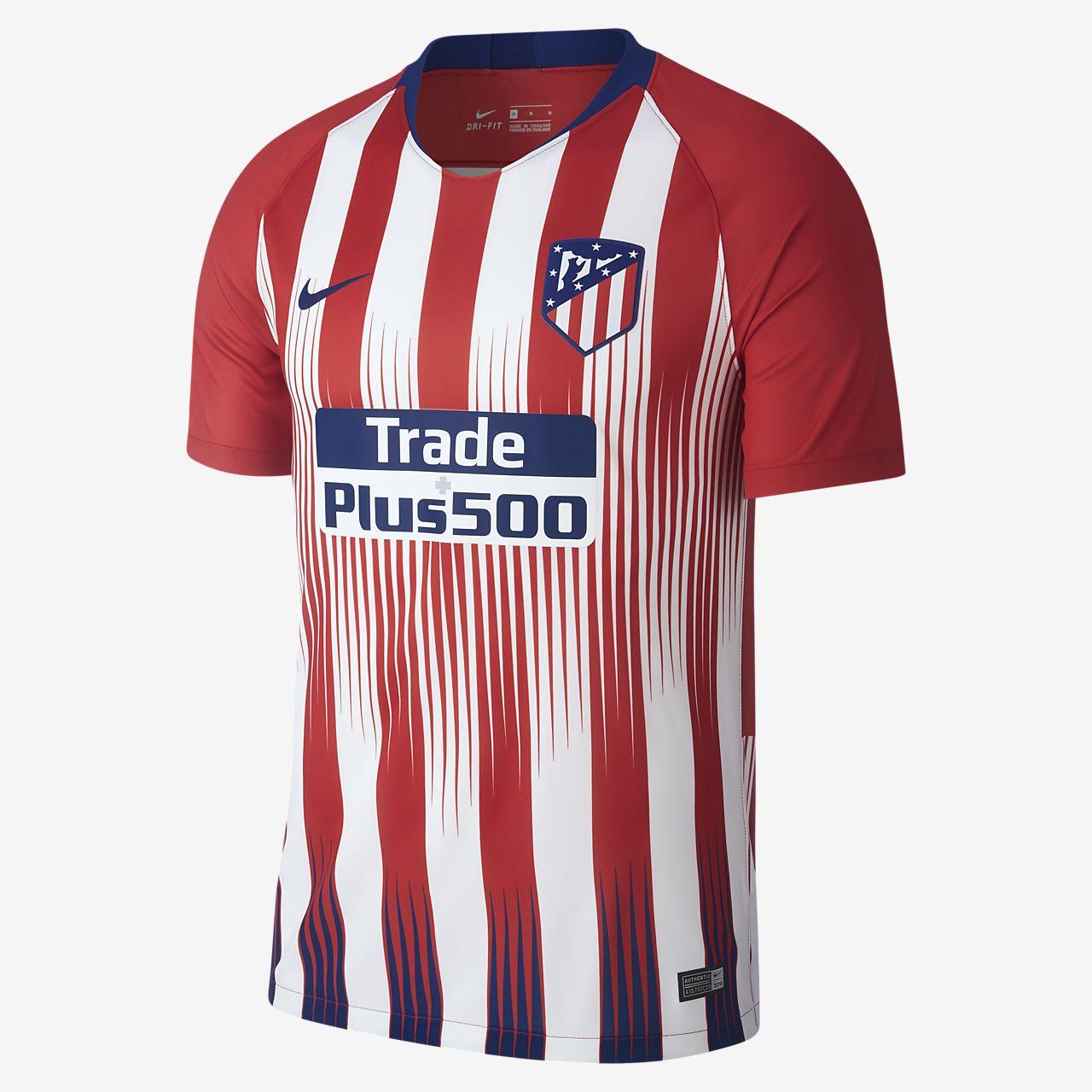 ... Camiseta de fútbol para hombre de local Stadium del Atlético de Madrid  2018 19 e665162db10ad