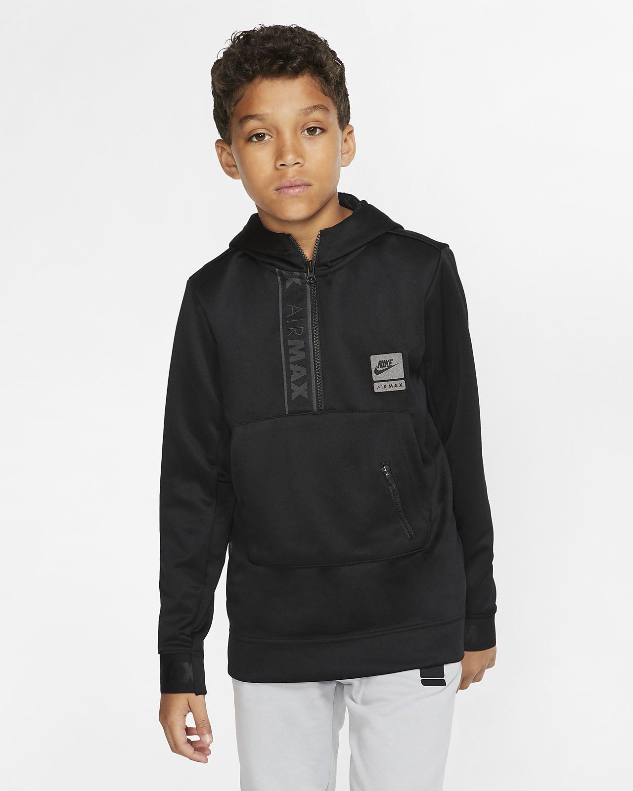 Sudadera con capucha con medio cierre para niño talla grande Nike Air Max