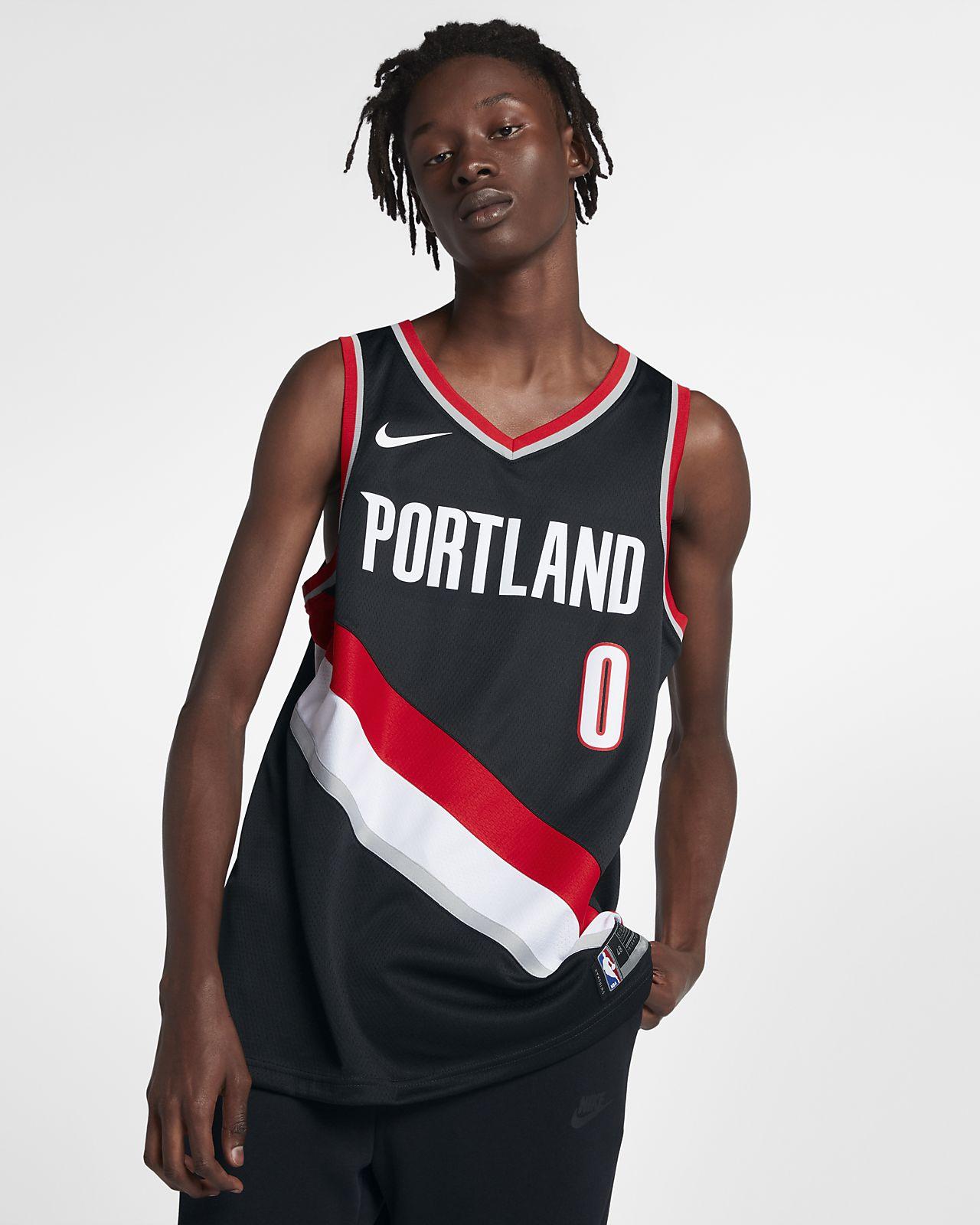 波特兰开拓者队 (Damian Lillard) Icon Edition Nike NBA Swingman Jersey 男子球衣