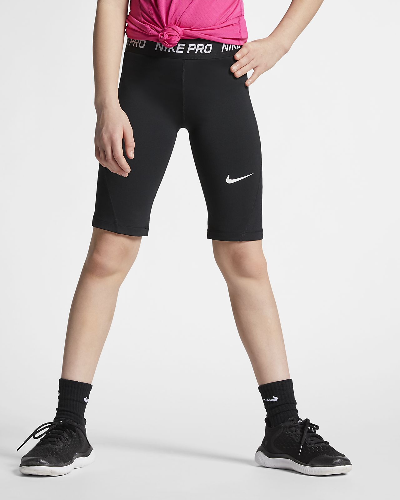 Nike Pro Big Kids' (Girls') 1/2 Tights