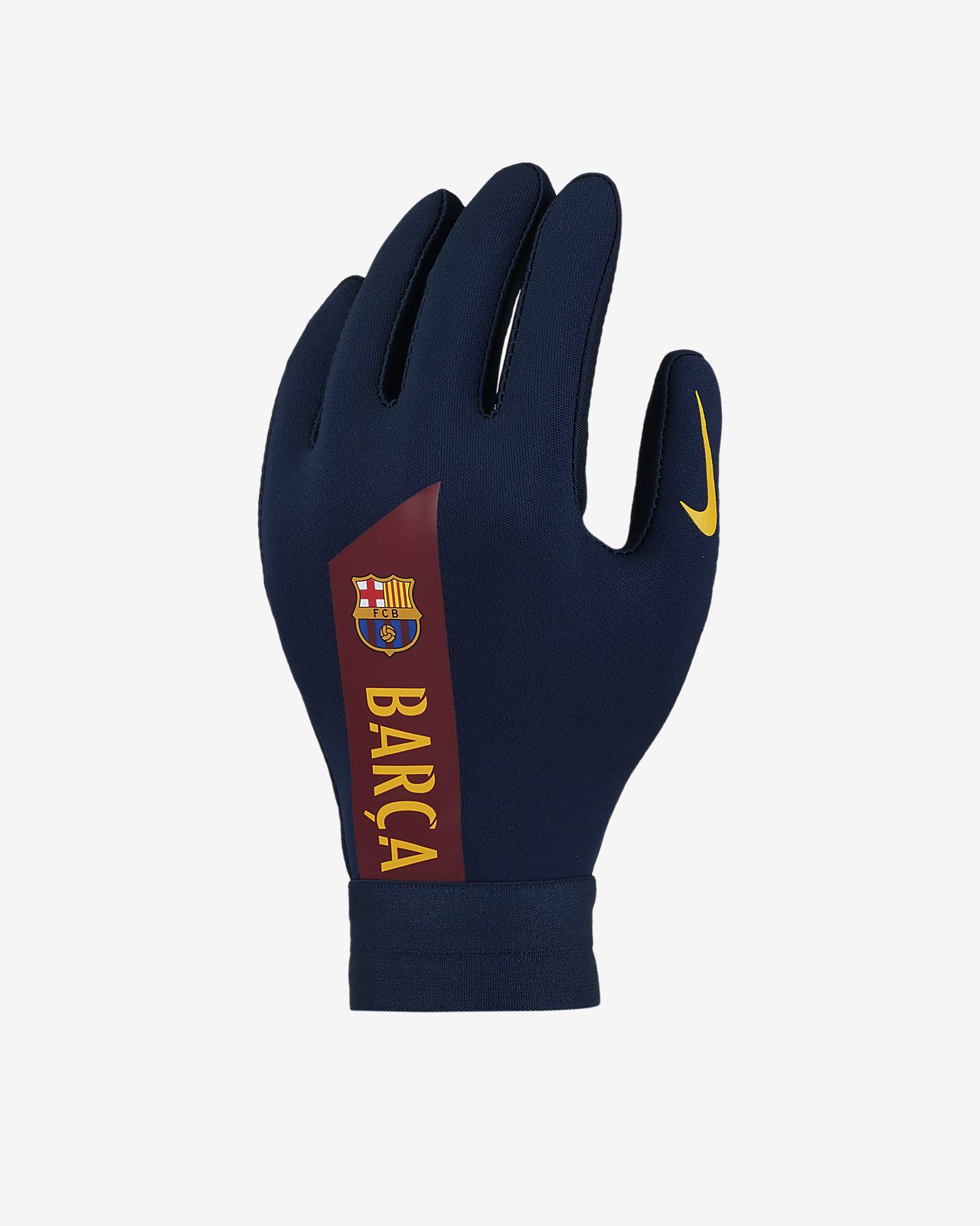 Παιδικά γάντια ποδοσφαίρου Nike HyperWarm FC Barcelona Academy. Nike ... 7a092b00b21