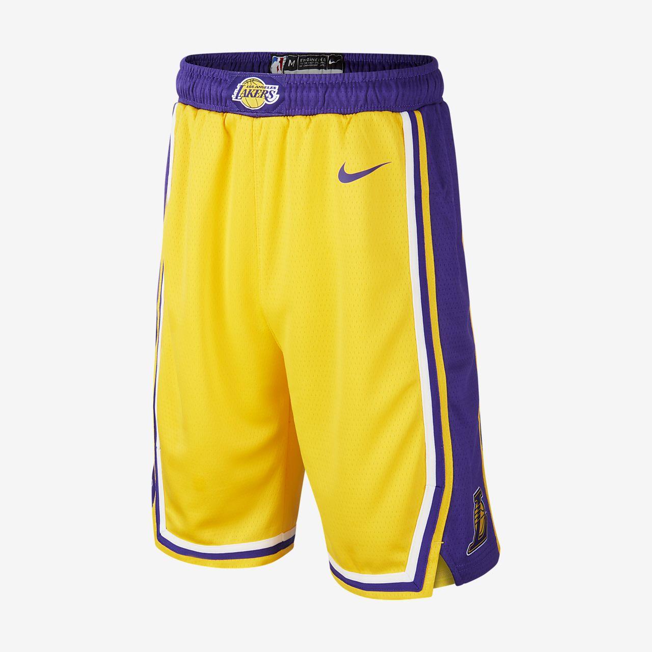 Short Nike NBA Los Angeles Lakers Icon Edition Swingman pour Enfant plus âgé