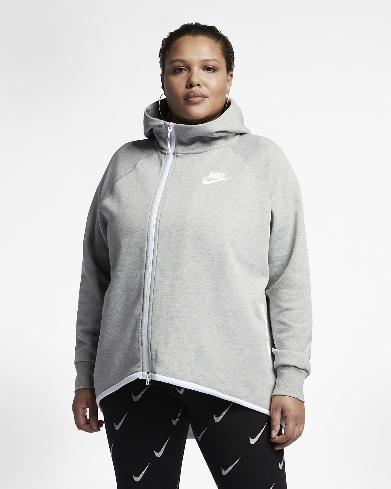 957dd57c56 Nike Sportswear Tech Fleece Women's Full-Zip Cape (Plus Size)