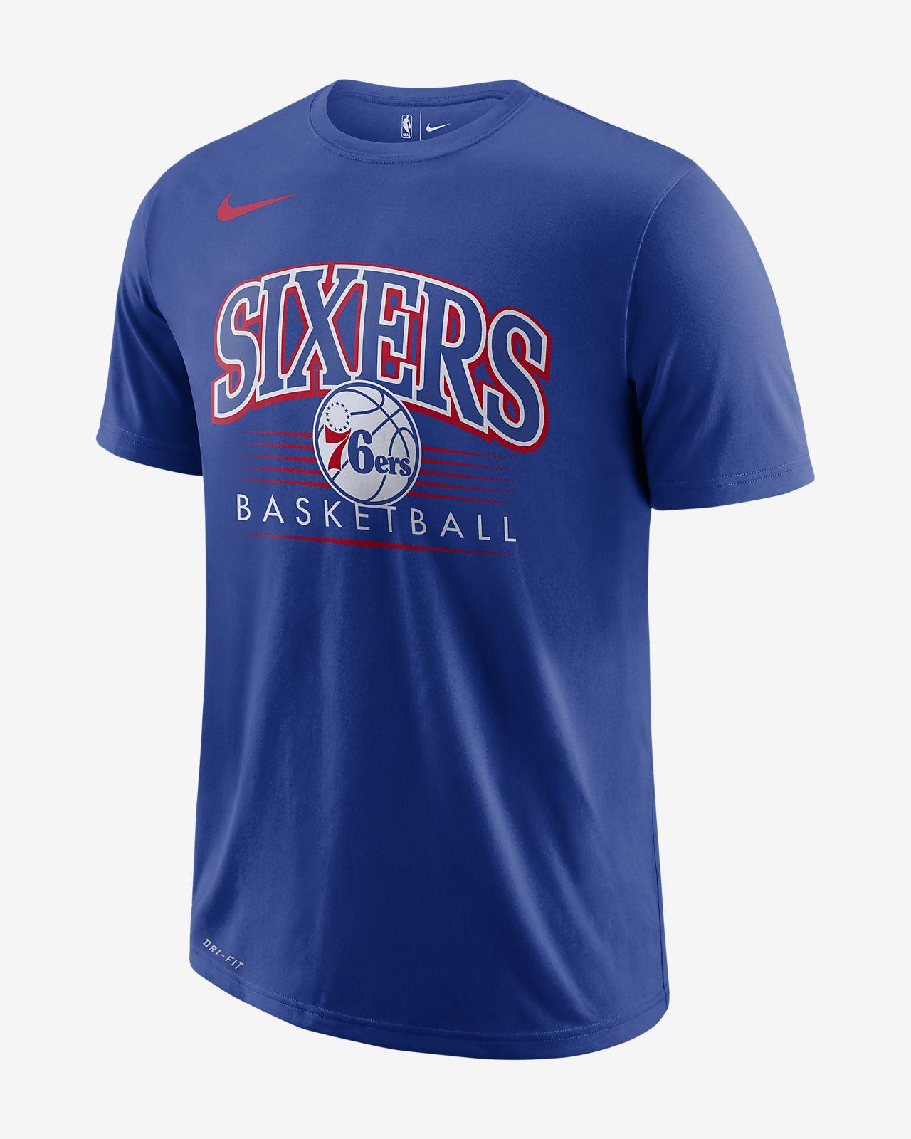 T-shirt NBA Philadelphia 76ers Nike Dri-FIT para homem