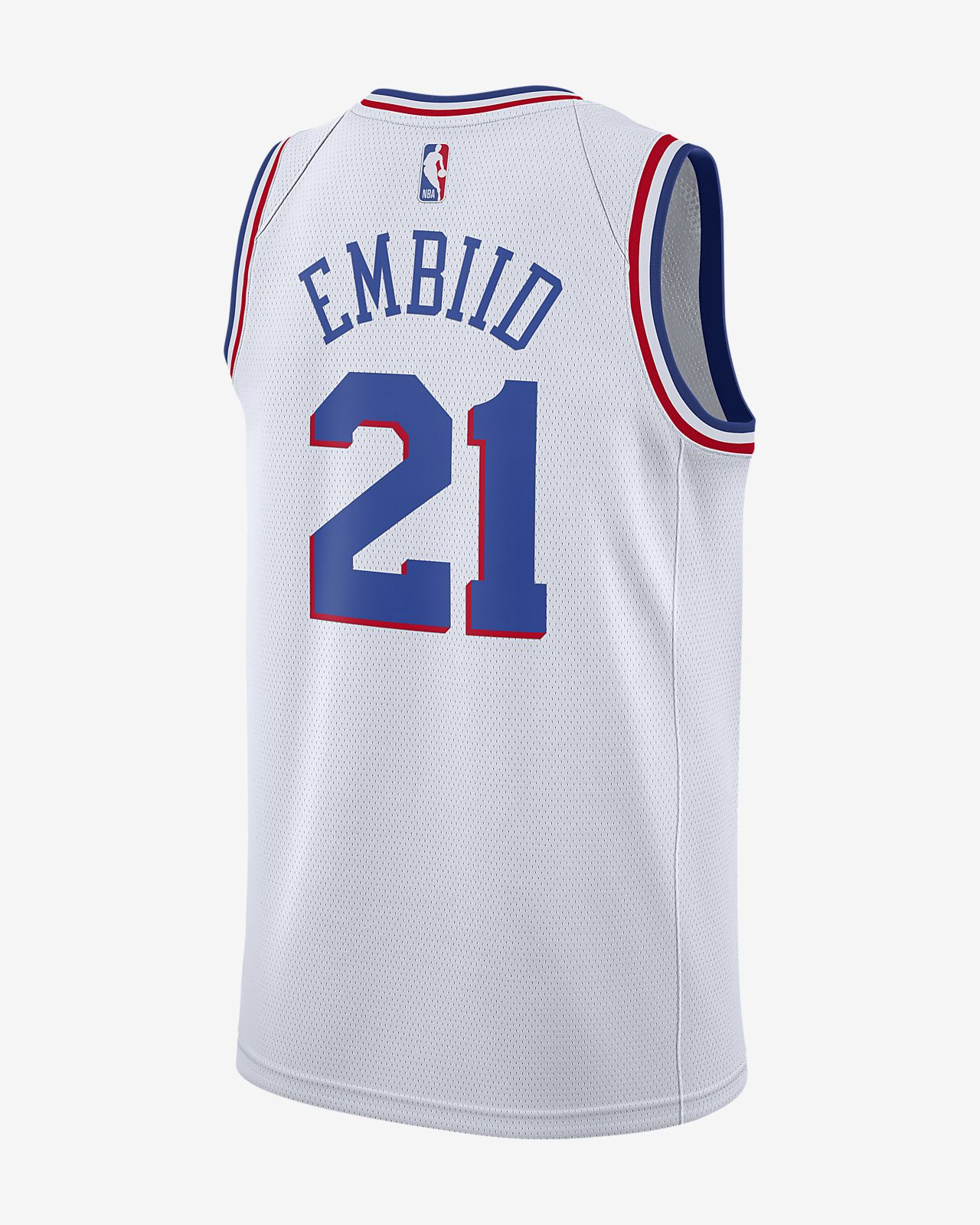 new concept ba2c1 03498 Joel Embiid Earned City Edition Swingman (Philadelphia 76ers) Men's Nike  NBA Connected Jersey