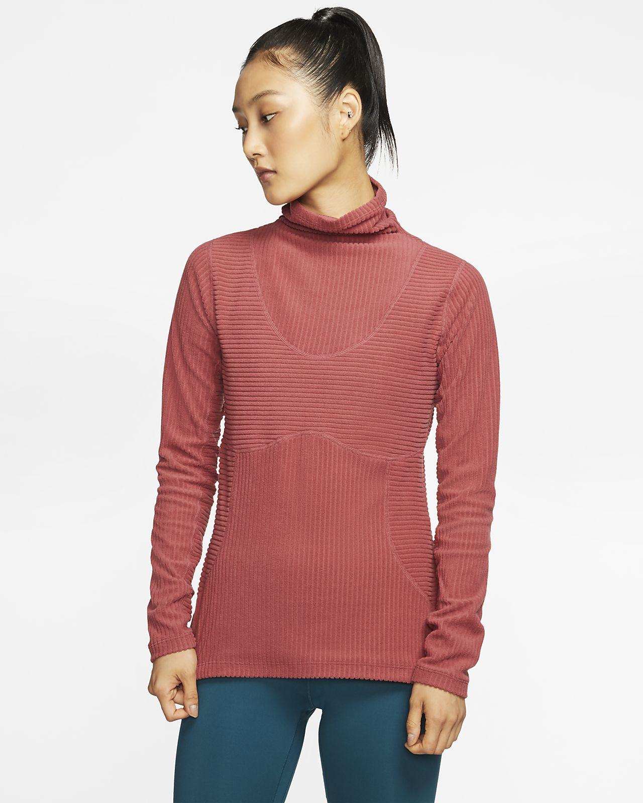 Damska koszulka welurowa Nike Pro HyperWarm