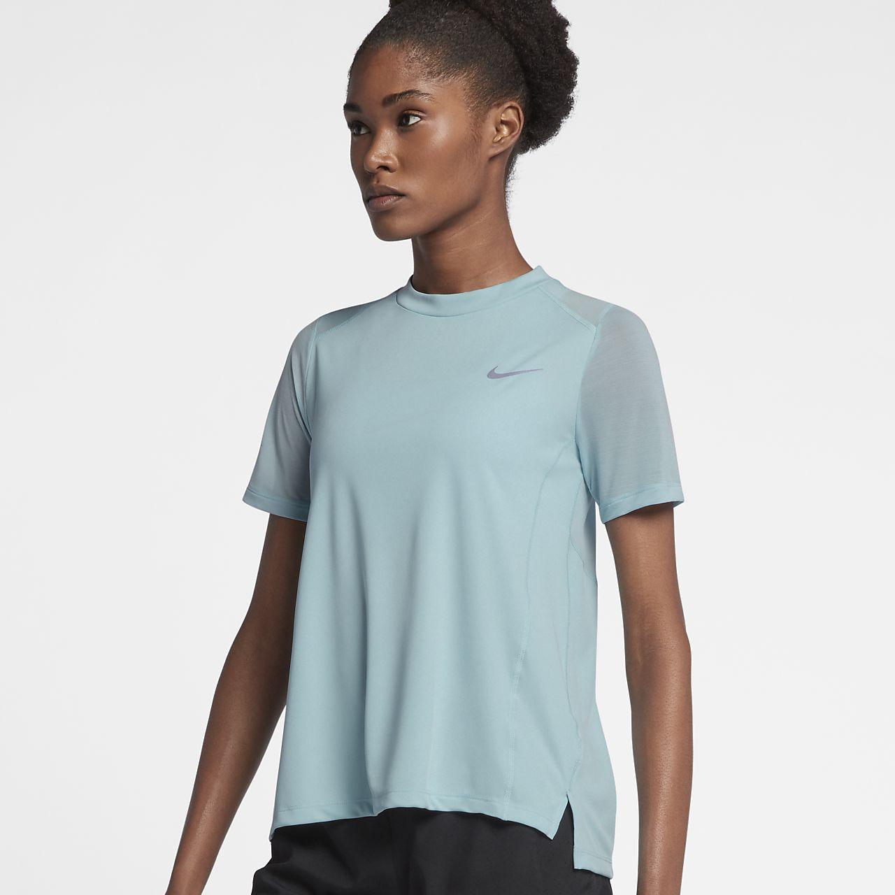 Nike Dry Miler Women's Short Sleeve Running Tops White